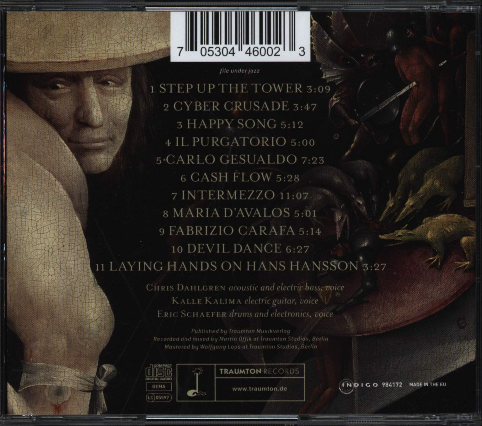 Johnny La Marama: Il Purgatorio, CD