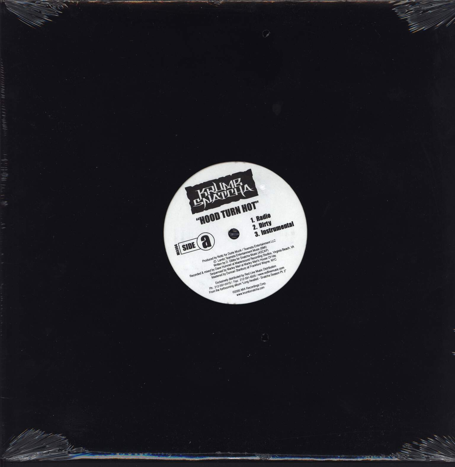 "Krumb Snatcha: Hood Turn Hot / Can't Get None, 12"" Maxi Single (Vinyl)"
