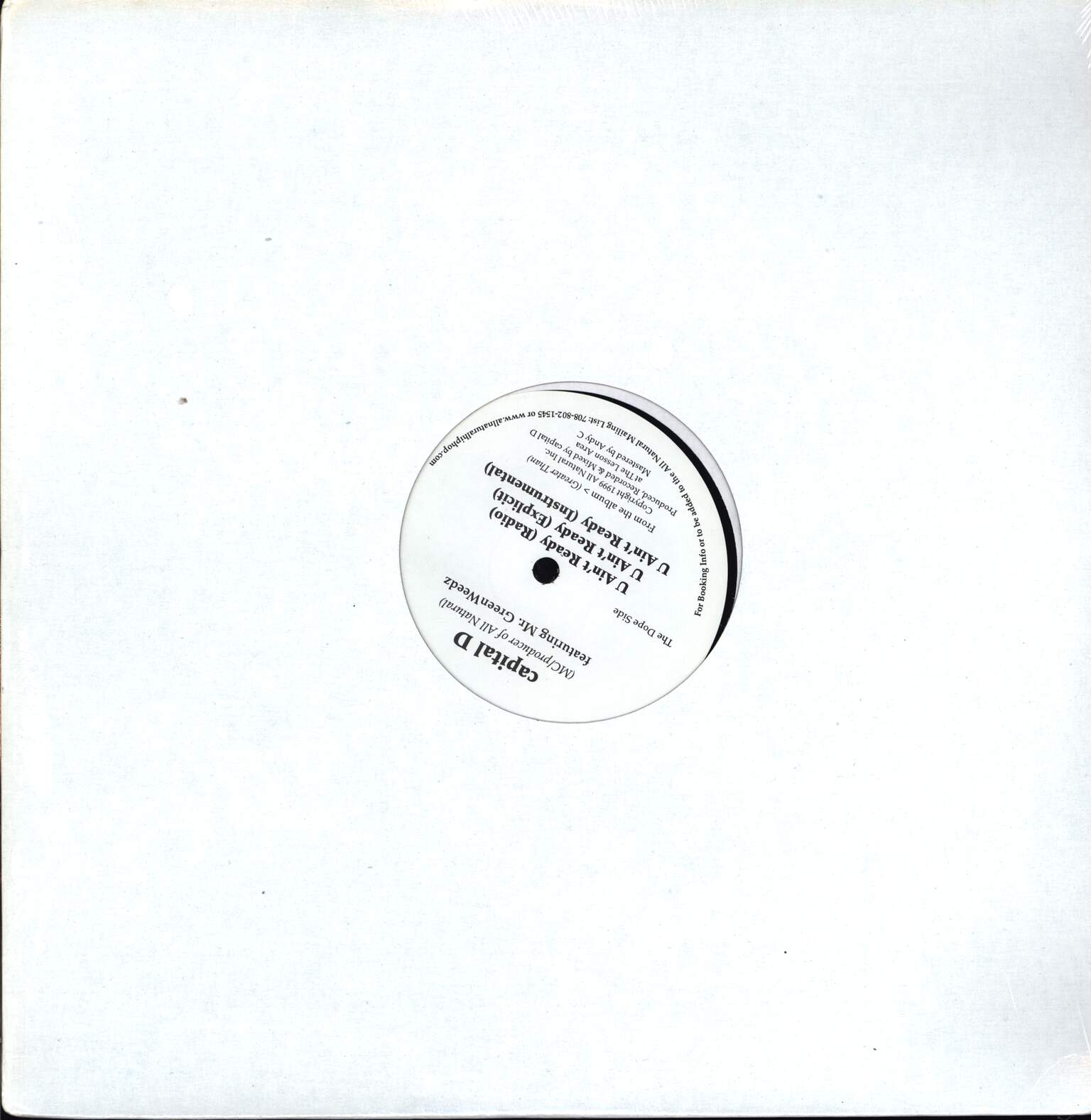 "Capital D: Que Sera Sera / U Ain't Ready, 12"" Maxi Single (Vinyl)"