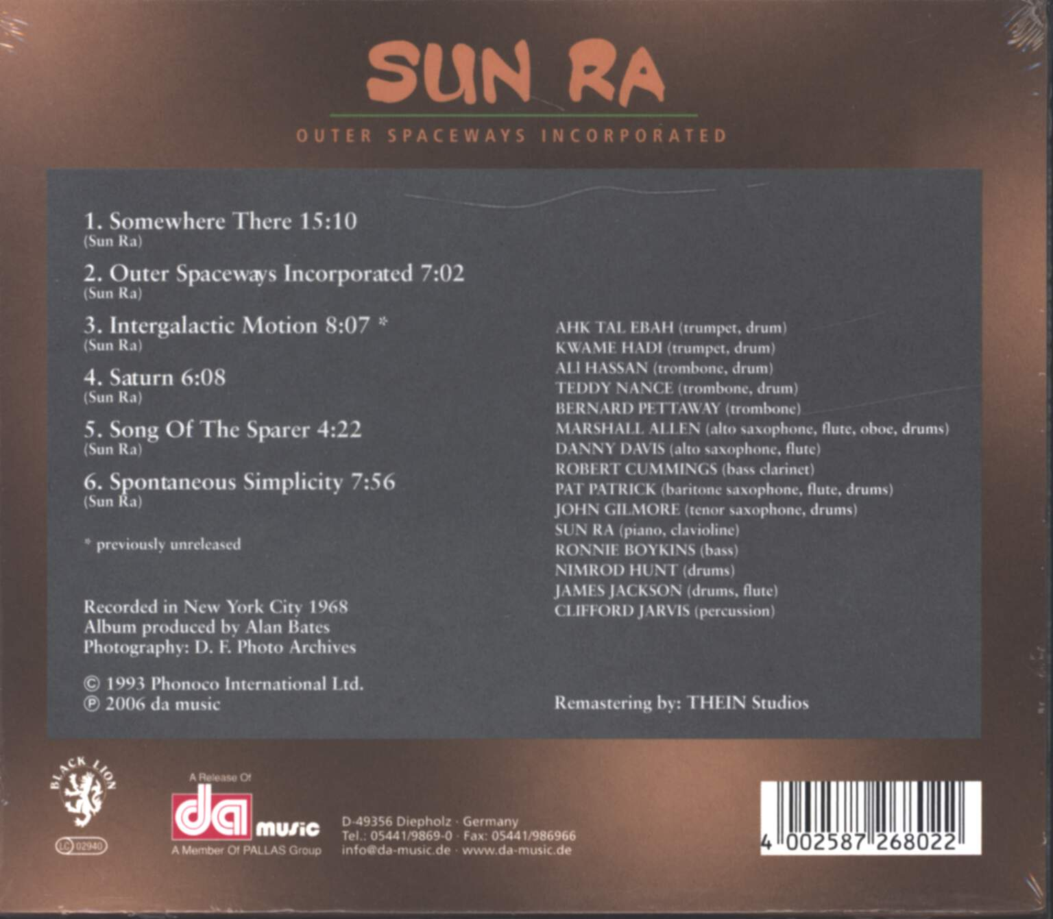 The Sun Ra Arkestra: Outer Spaceways Incorporated, CD