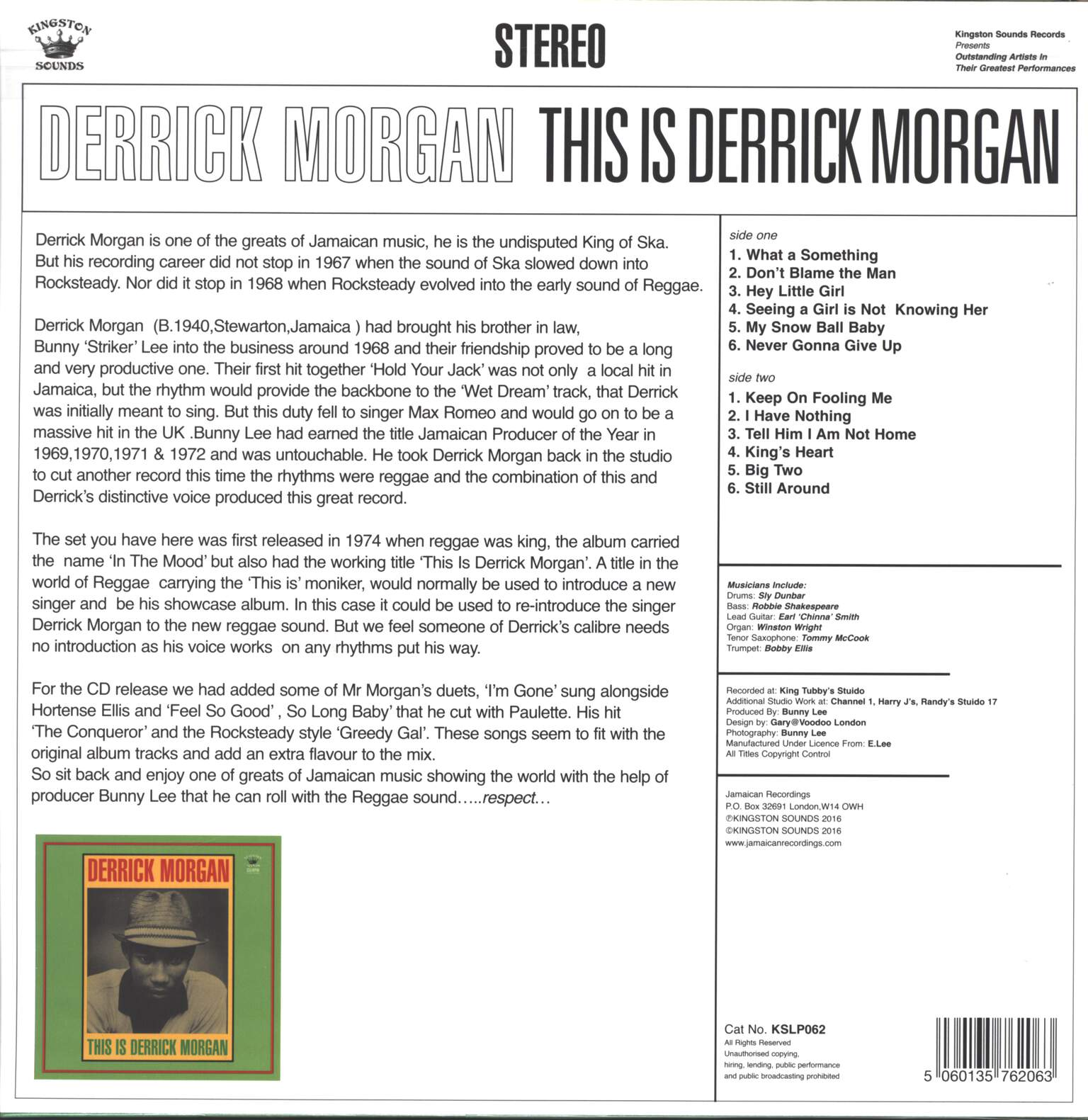 Derrick Morgan: This Is Derrick Morgan, LP (Vinyl)
