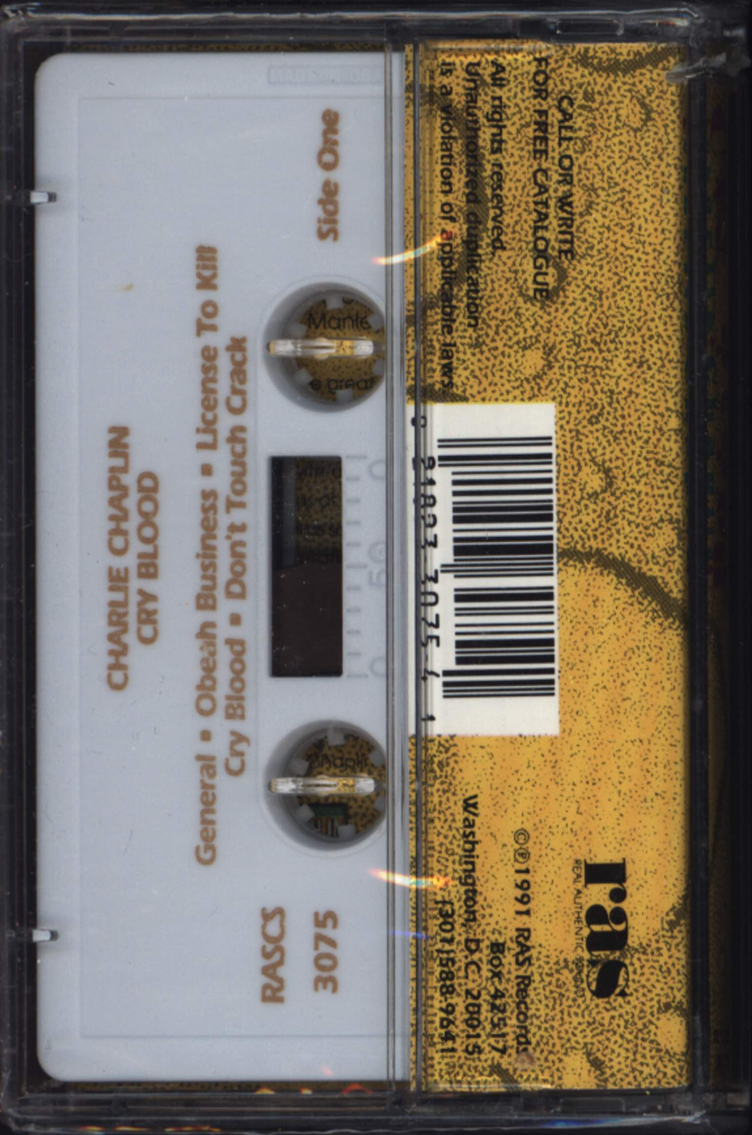 Charlie Chaplin: Cry Blood, Compact Cassette