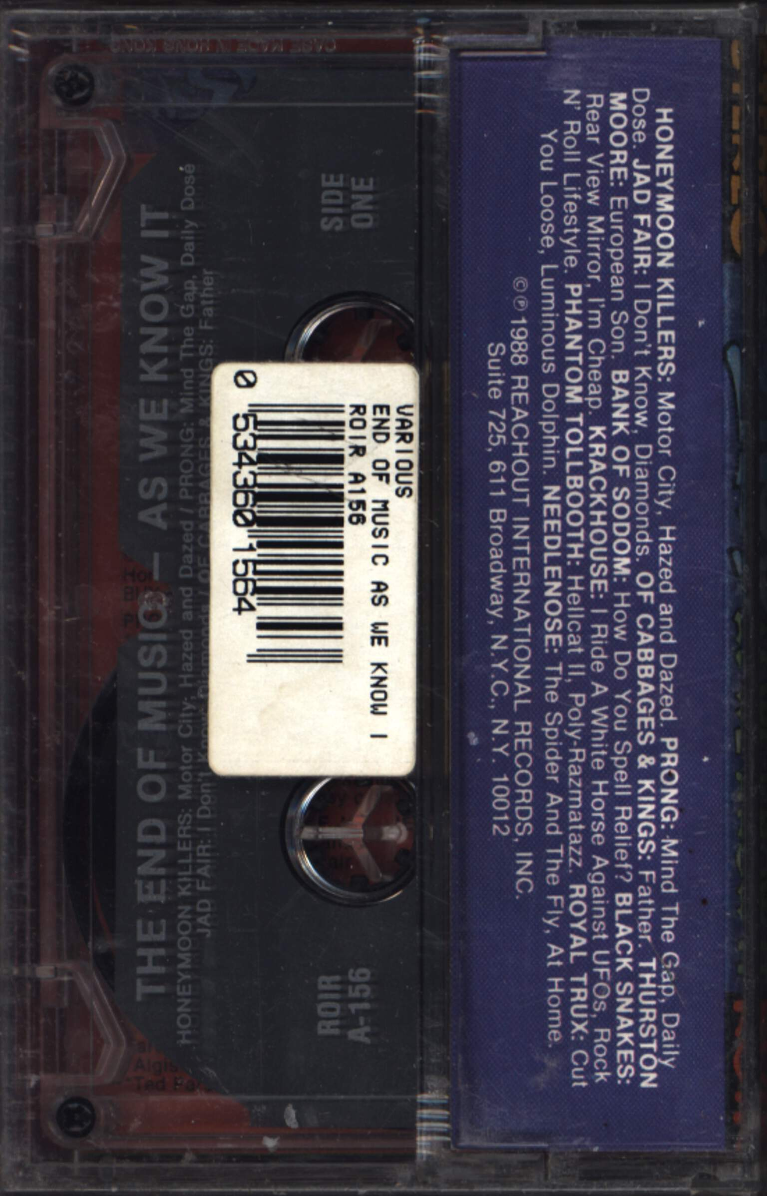 Various: The End Of Music (As We Know It), Compact Cassette