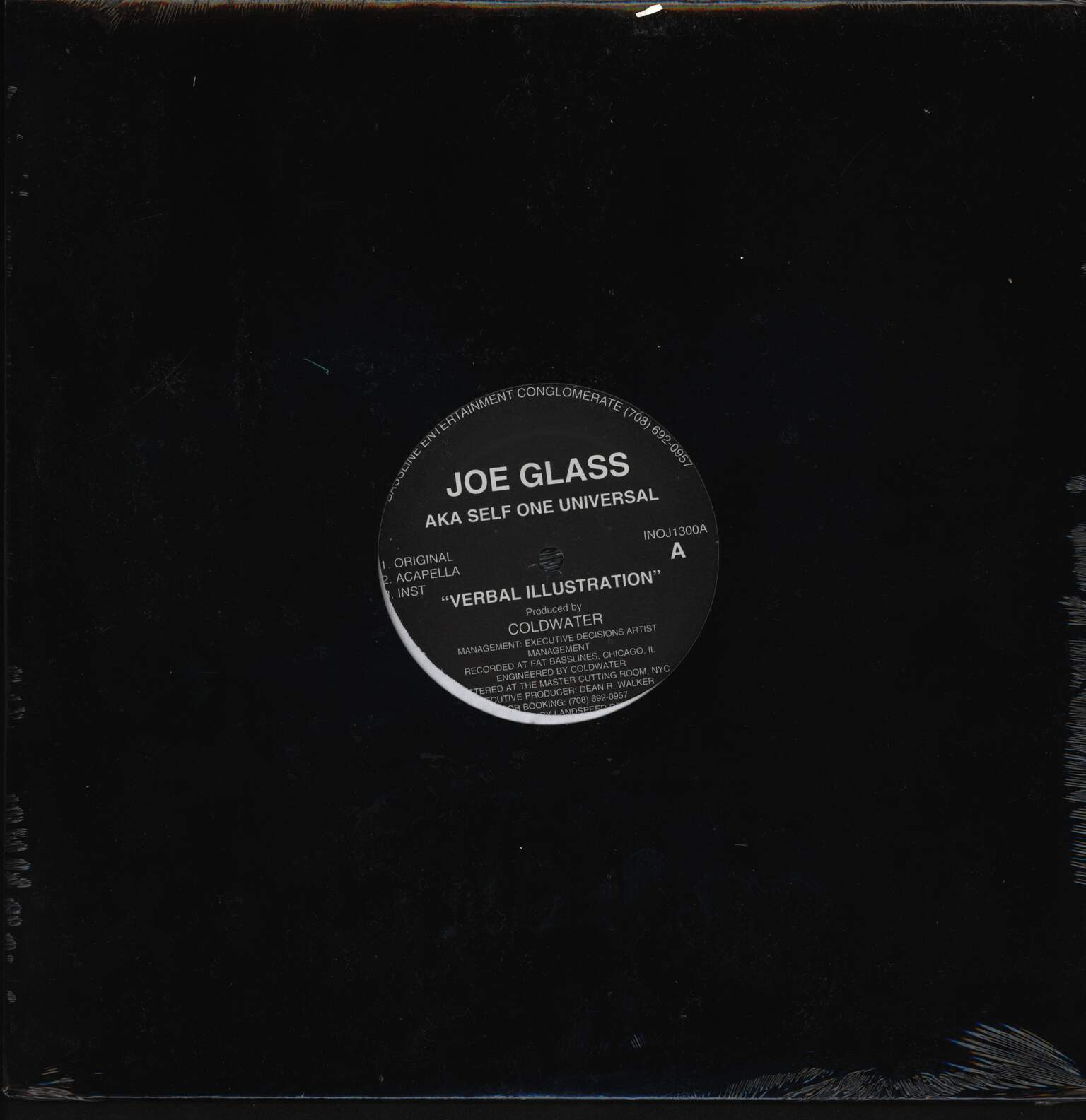 "Joe Glass: Verbal Illustration / Balance Of Life, 12"" Maxi Single (Vinyl)"