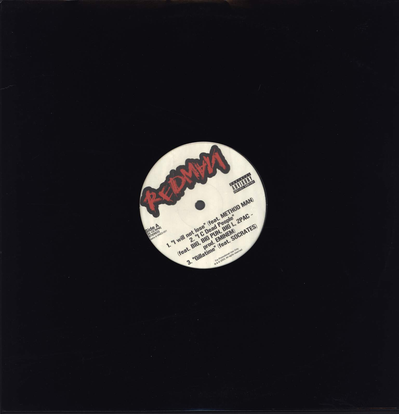 "Redman: I Will Not Lose, 12"" Maxi Single (Vinyl)"
