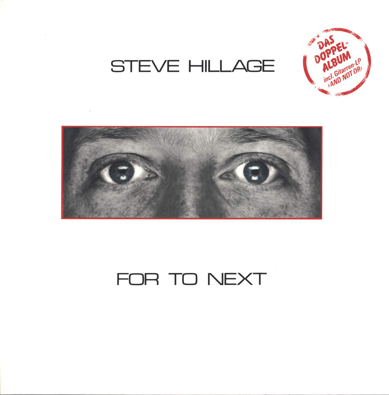 Steve Hillage: For To Next / And Not Or, LP (Vinyl)