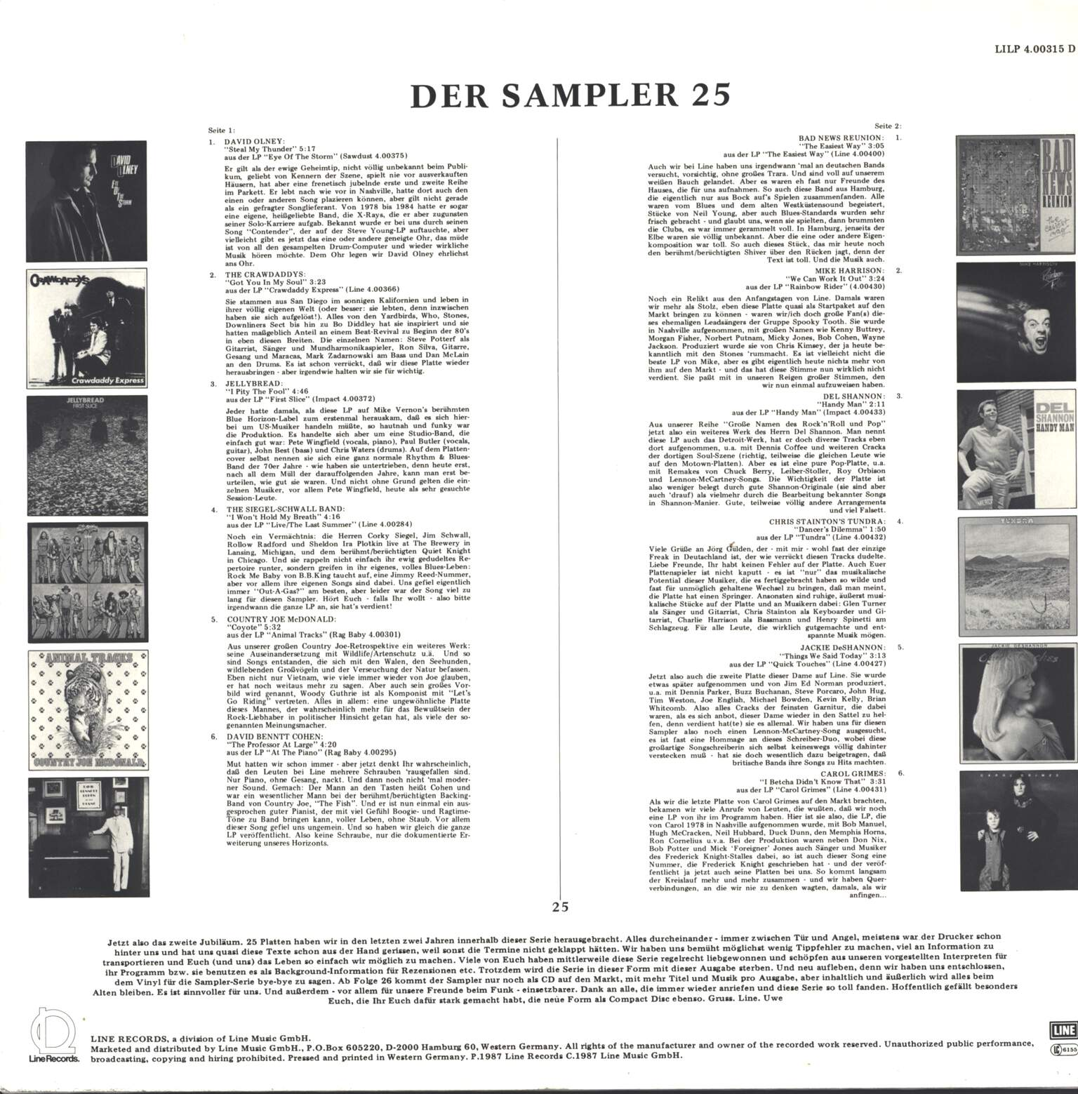 Various: Der Sampler 25, LP (Vinyl)