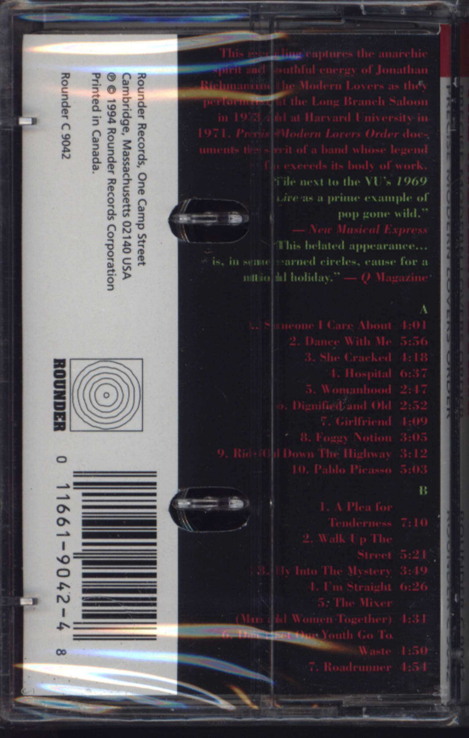 The Modern Lovers: Precise Modern Lovers Order (Live In Berkeley And Boston), Compact Cassette