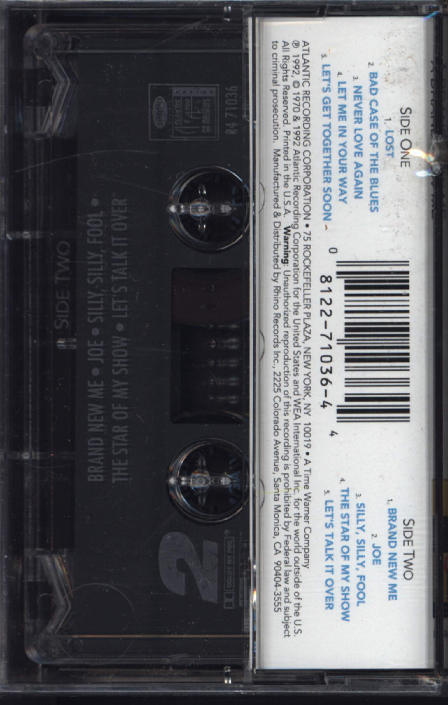 Dusty Springfield: A Brand New Me, Compact Cassette