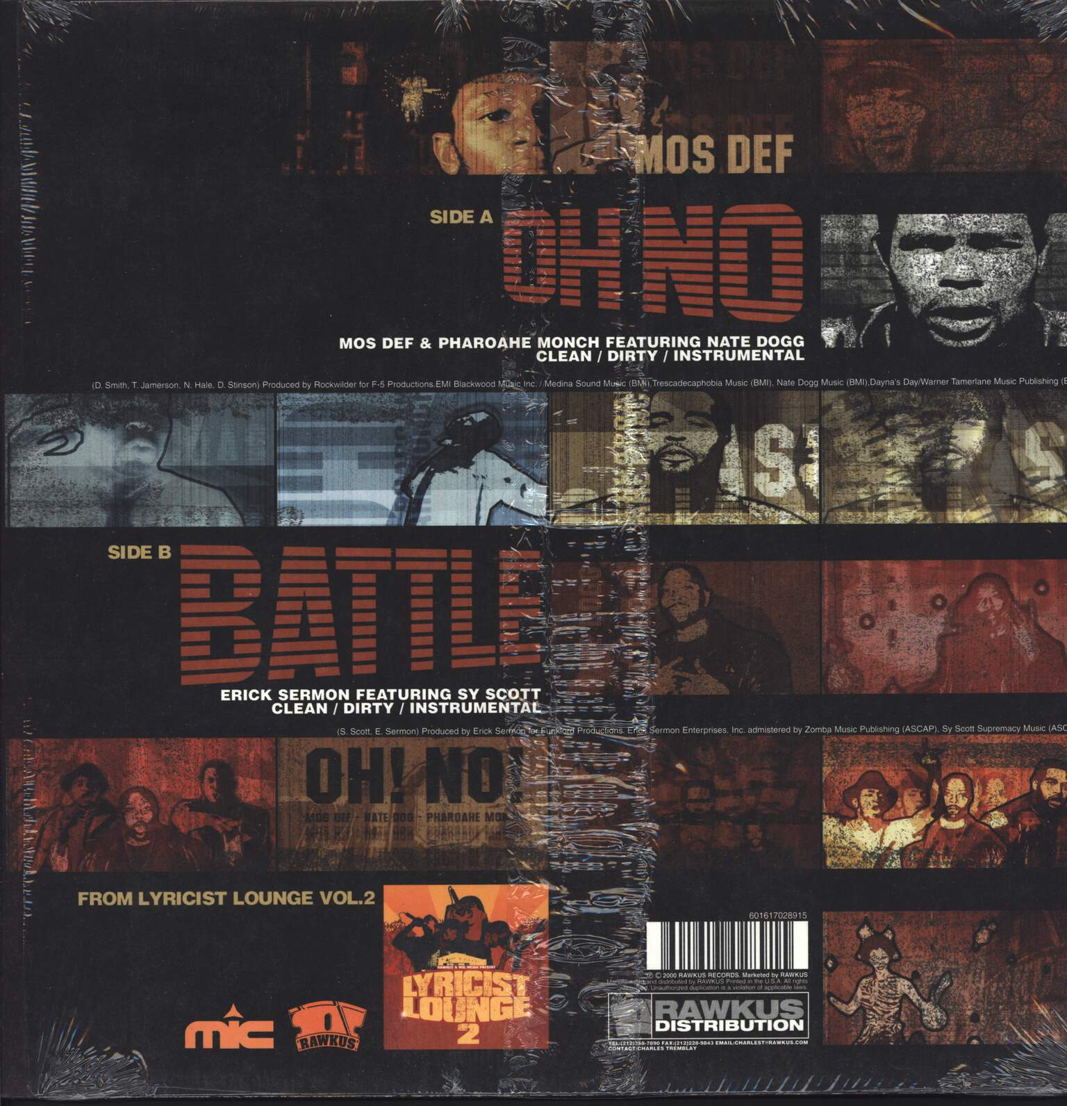 "Mos Def: Oh No / Battle, 12"" Maxi Single (Vinyl)"
