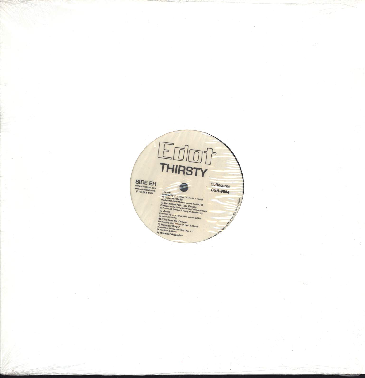 "E-Dot: Thirsty, 12"" Maxi Single (Vinyl)"