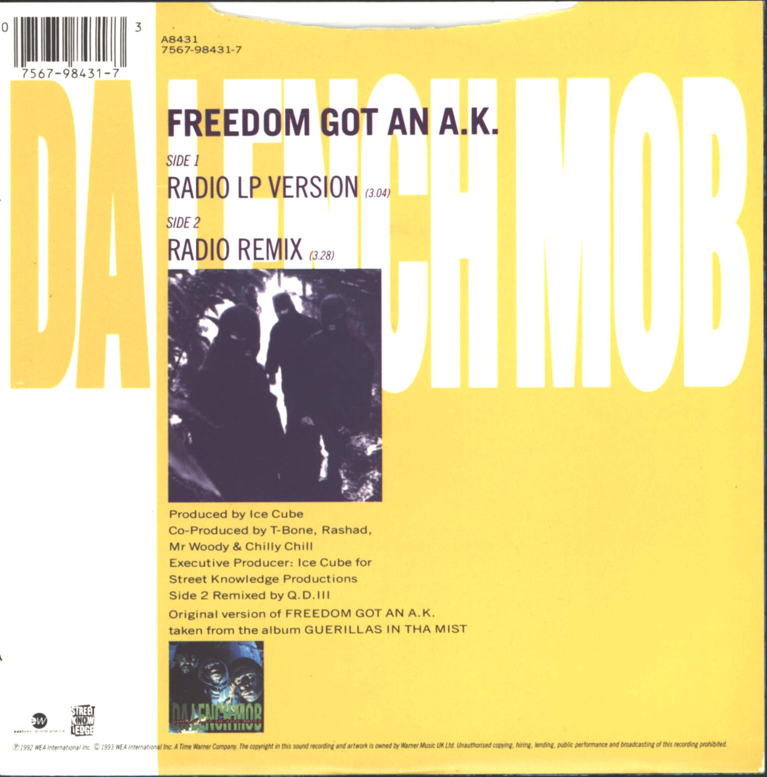 "Da Lench Mob: Freedom Got An A.K., 7"" Single (Vinyl)"