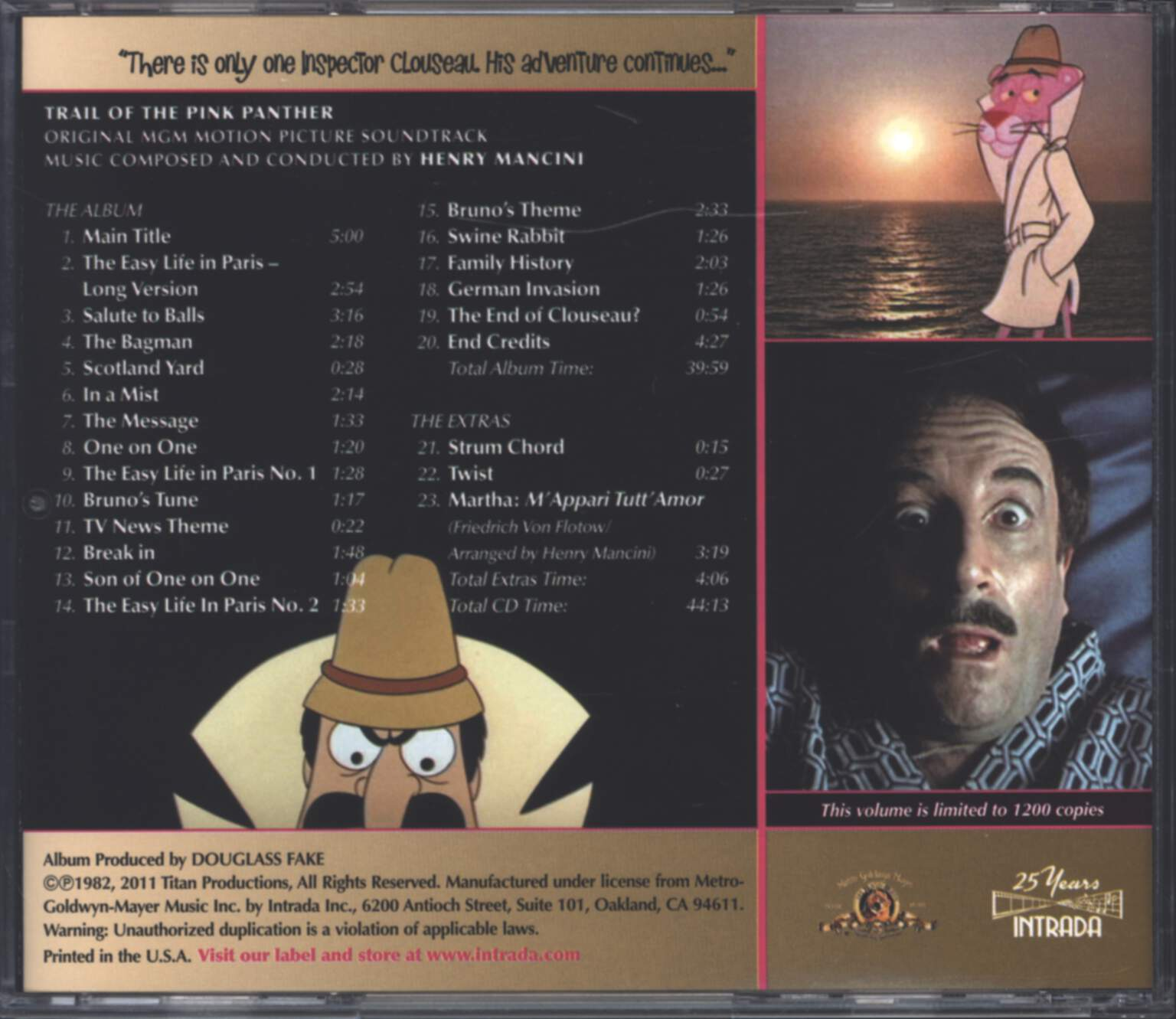 Henry Mancini: Trail Of The Pink Panther (Original Soundtrack), CD