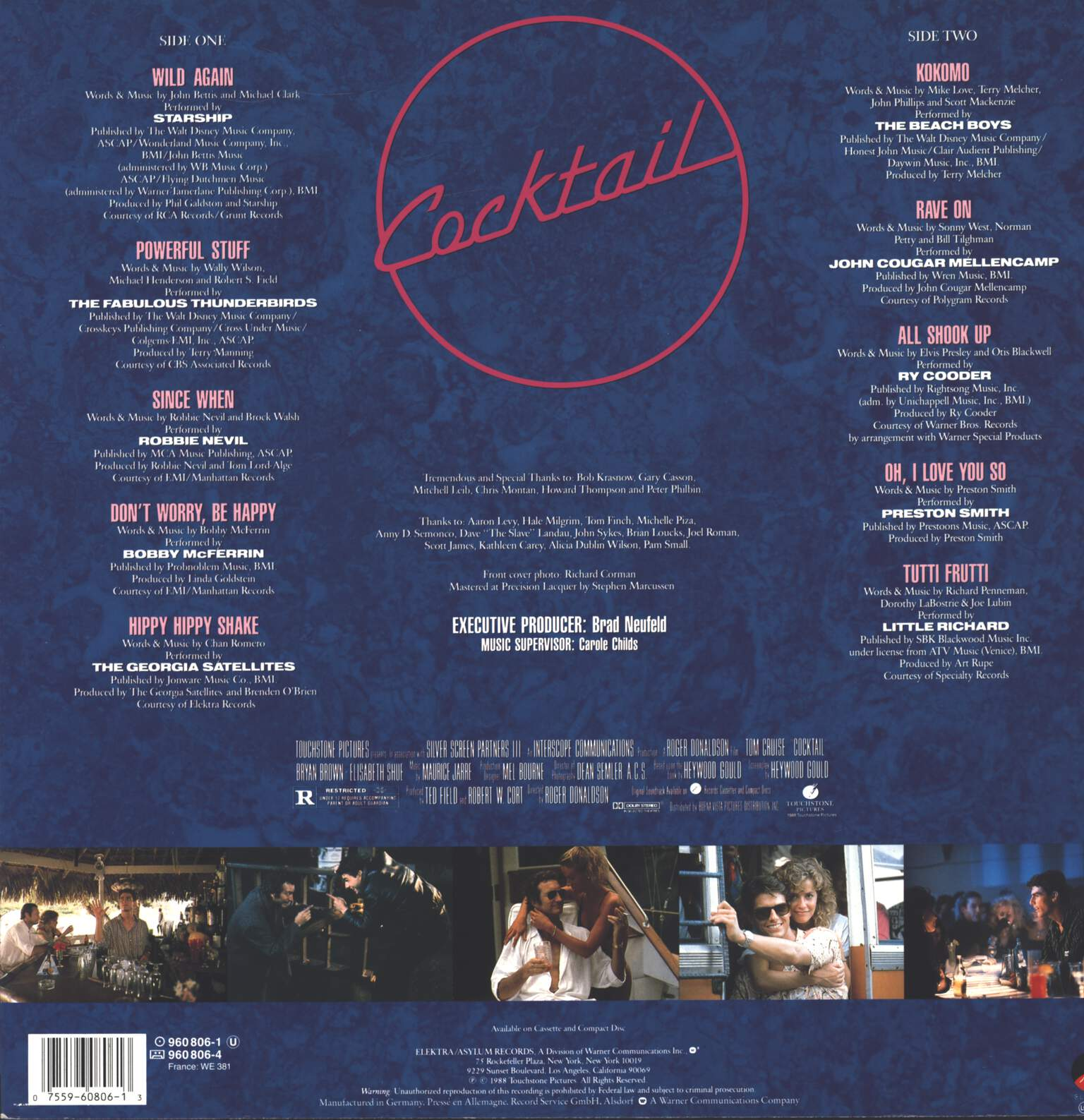 Various: Cocktail - Original Motion Picture Soundtrack, LP (Vinyl)