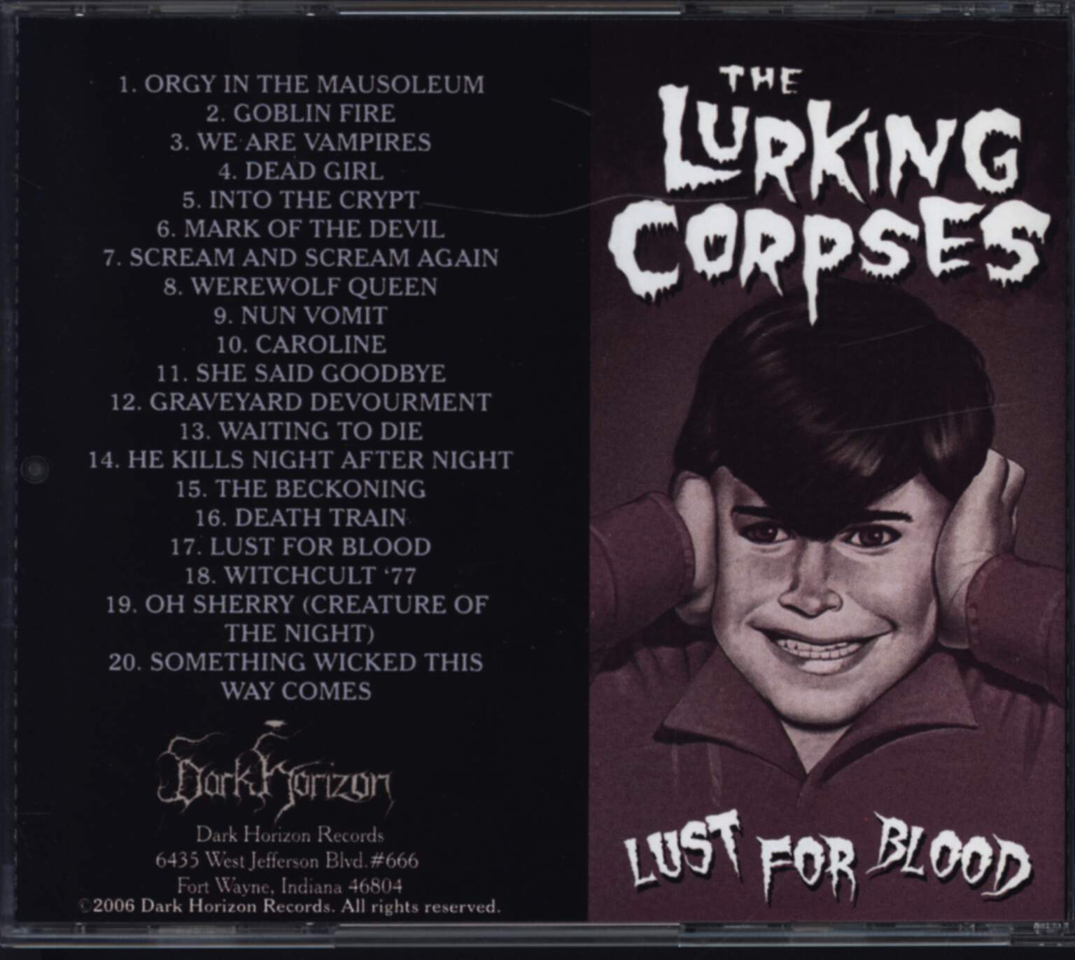 The Lurking Corpses: Lust For Blood, CD