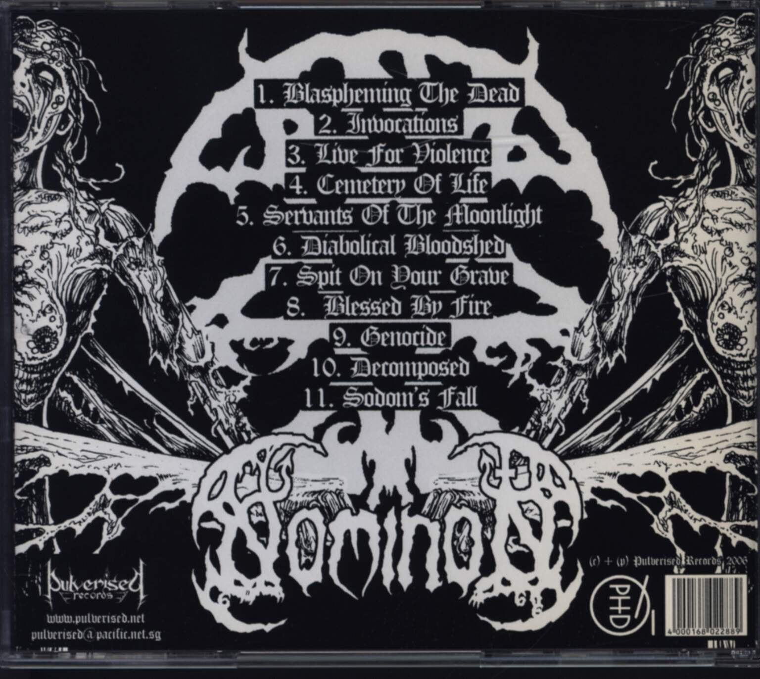 Nominon: Remnants Of A Diabolical History, CD