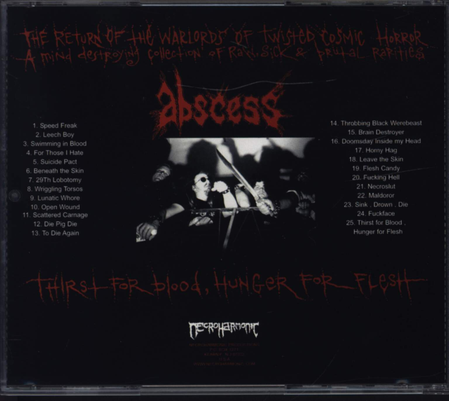 Abscess: Thirst For Blood, Hunger For Flesh, CD