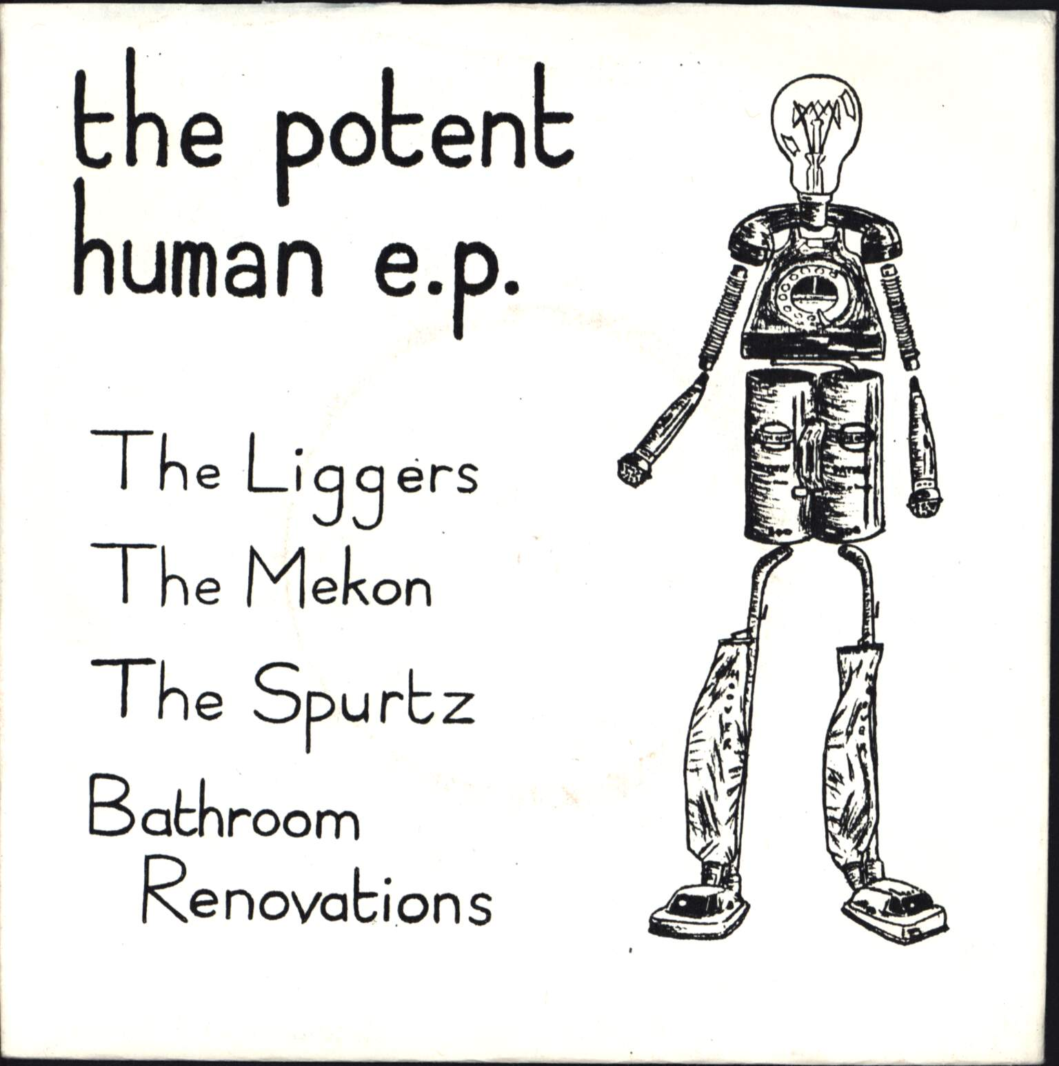 "Various: The Potent Human E. P., 7"" Single (Vinyl)"