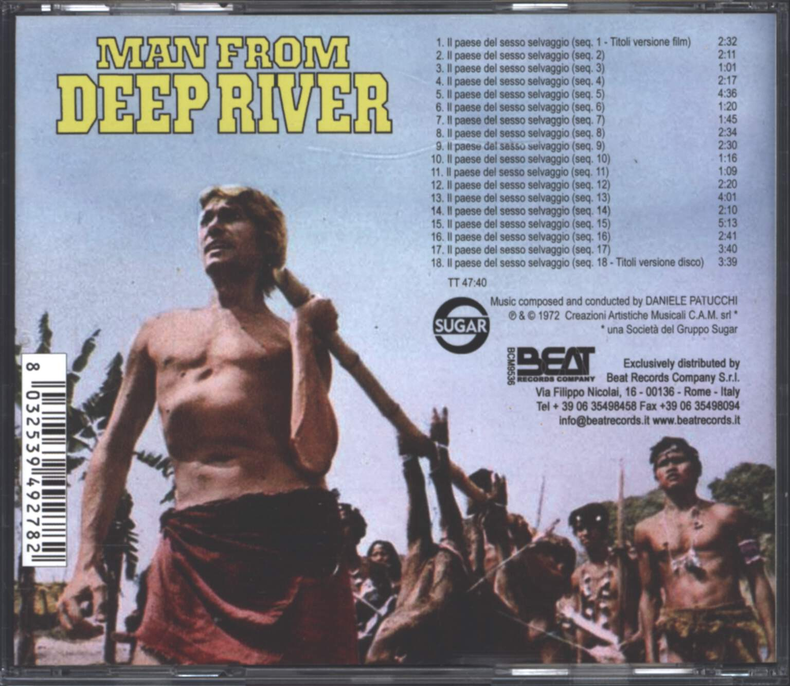 Daniele Patucchi: Man From Deep River (Original Motion Picture Soundtrack), CD