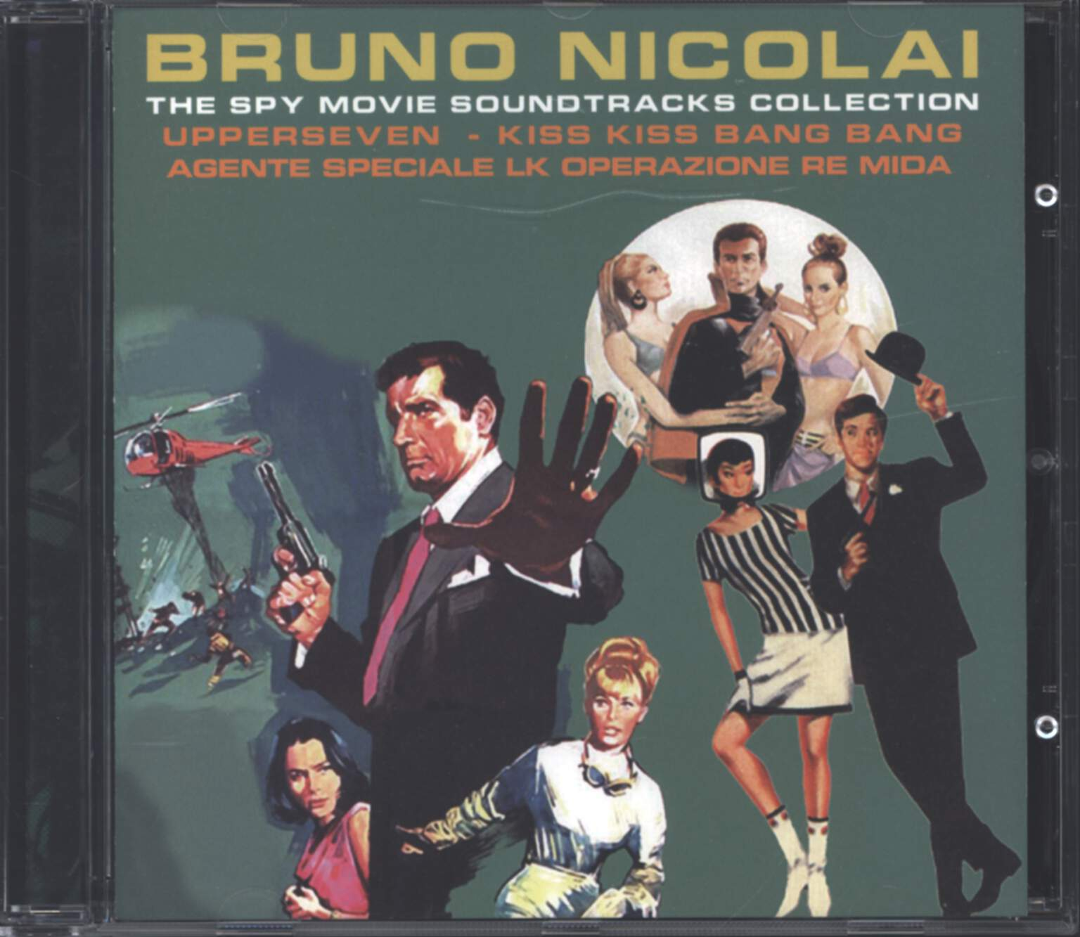 Bruno Nicolai: The Spy Movie Soundtracks Collection - Upperseven / Kiss Kiss Bang Bang / Agente Speciale LK Operazione Re Mida, CD