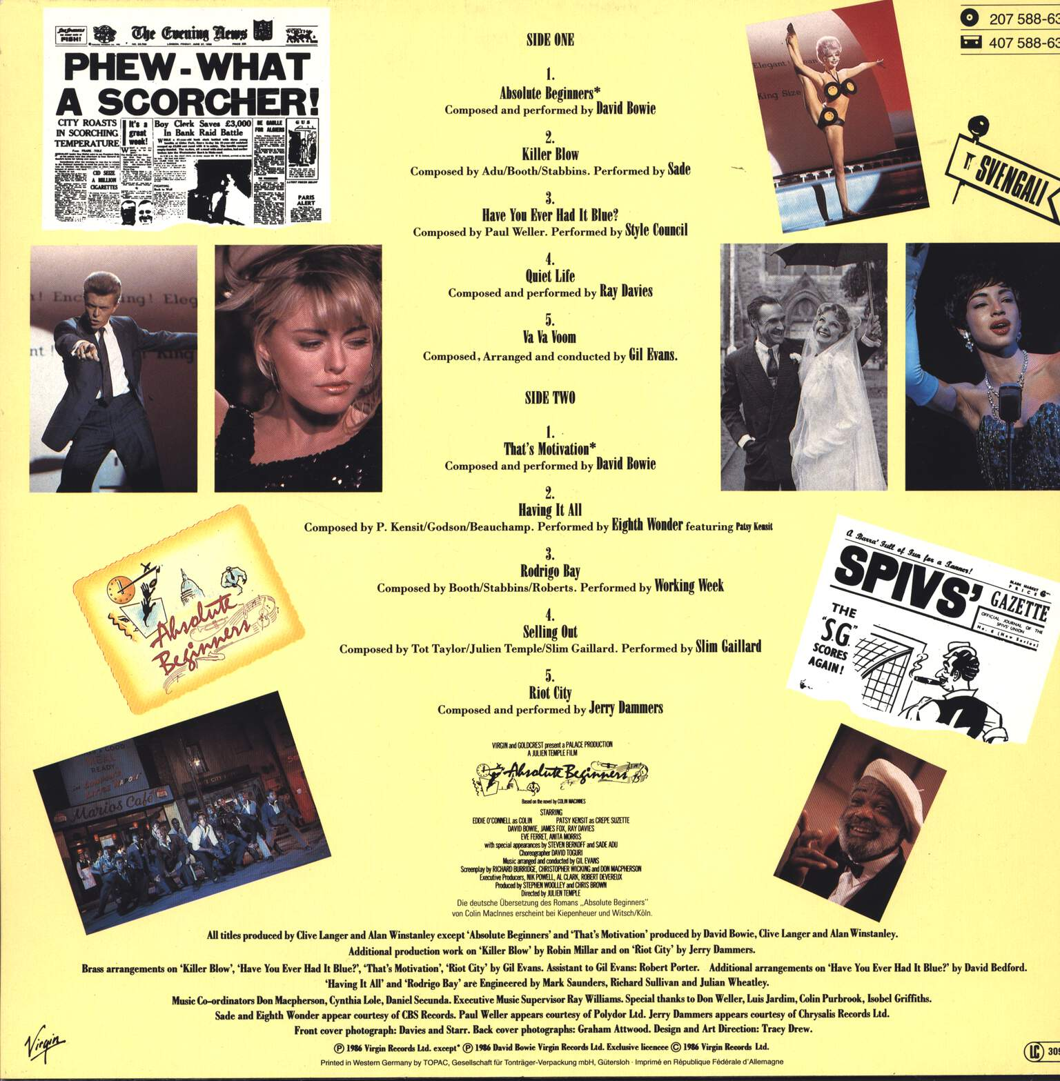 Various: Songs From The Original Motion Picture Absolute Beginners - The Musical, LP (Vinyl)
