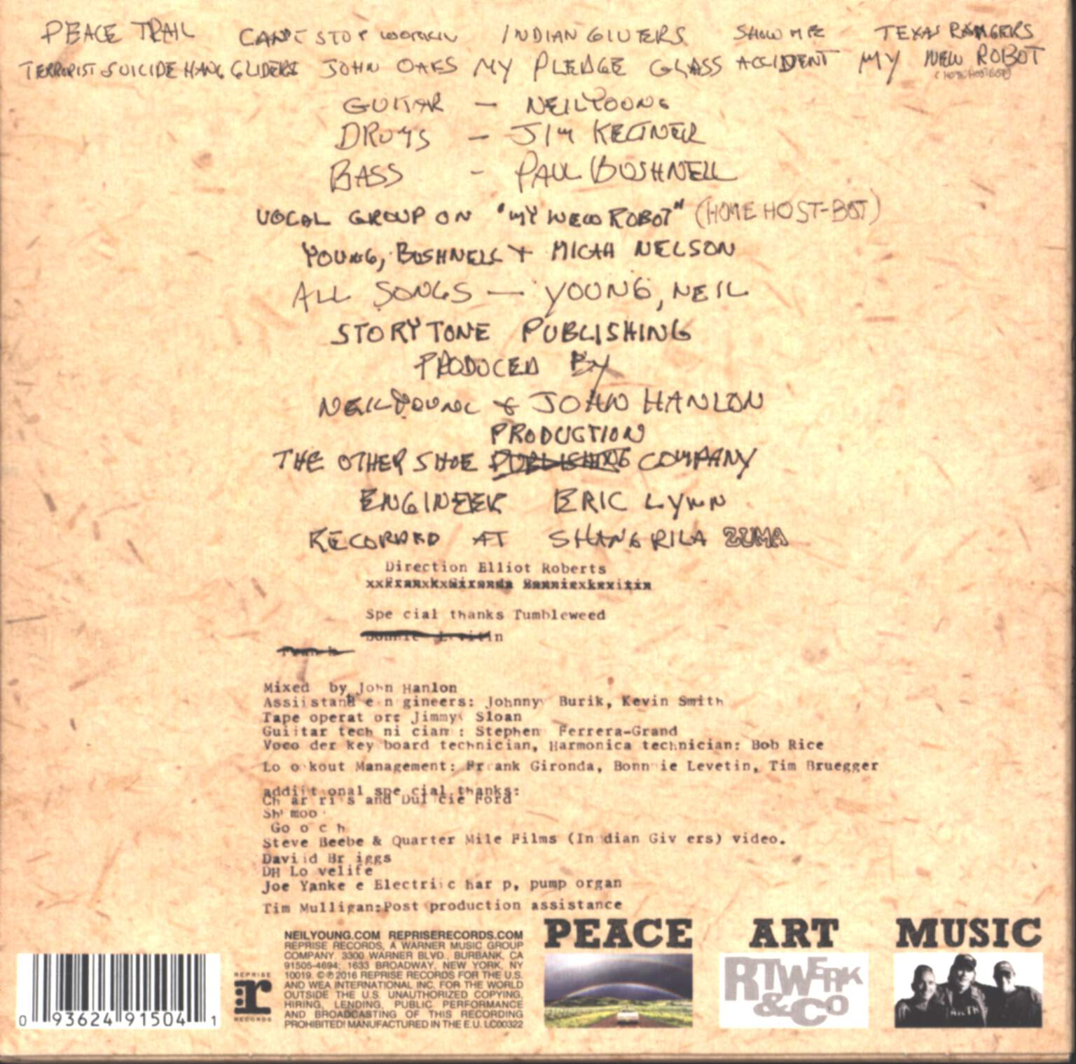 Neil Young: Peace Trail, CD