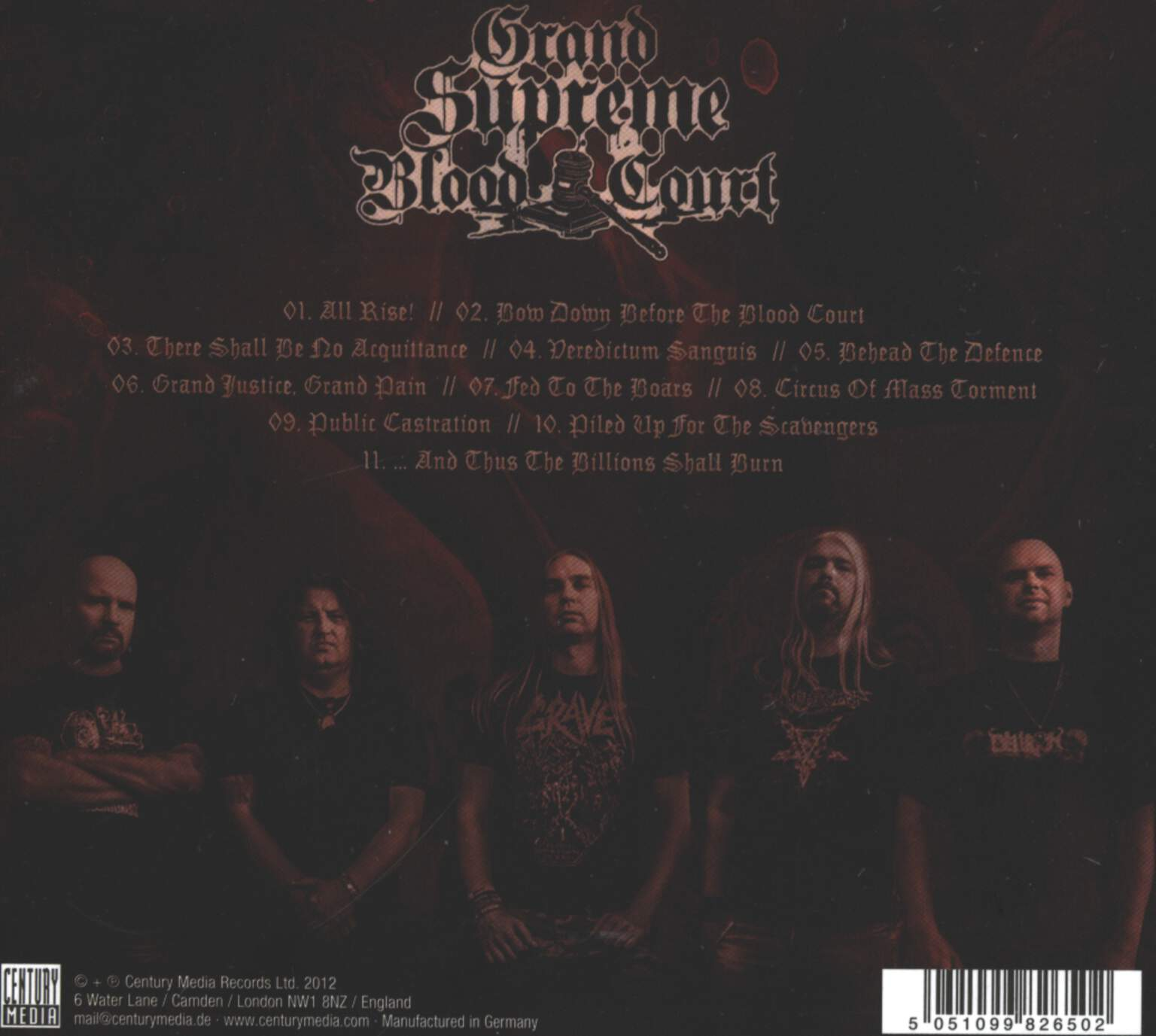 Grand Supreme Blood Court: Bow Down Before The Blood Court, CD