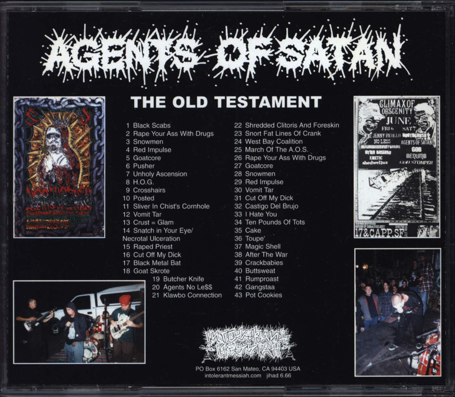 Agents Of Satan: The Old Testament, CD