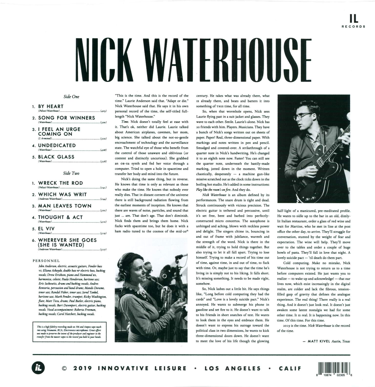 Nick Waterhouse: Nick Waterhouse, 1×LP (Vinyl)