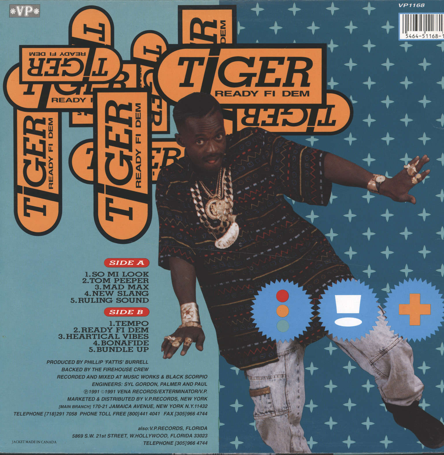 Tiger: Ready Fi Dem, LP (Vinyl)