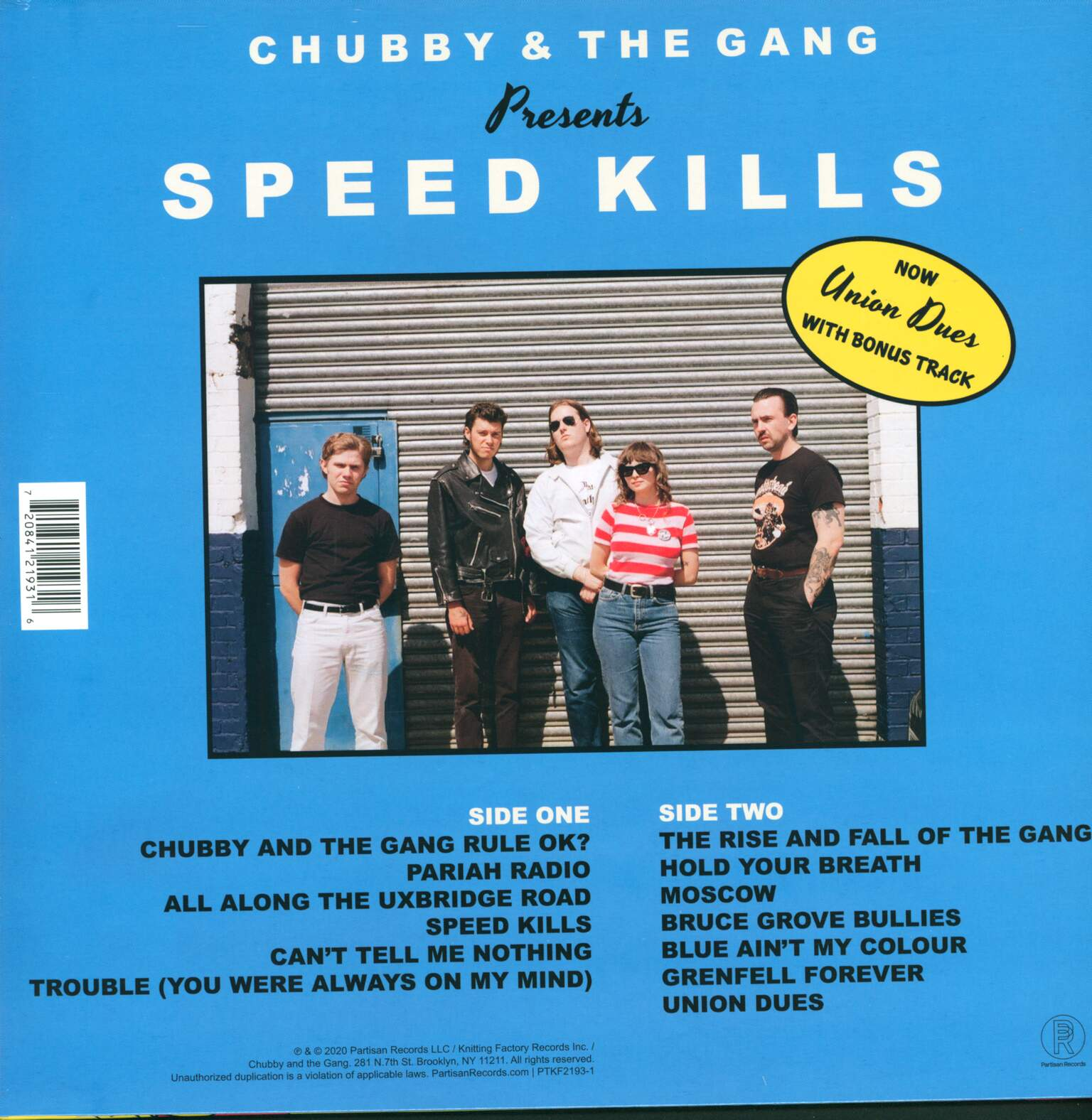 Chubby & The Gang: Speed Kills, 1×LP (Vinyl)