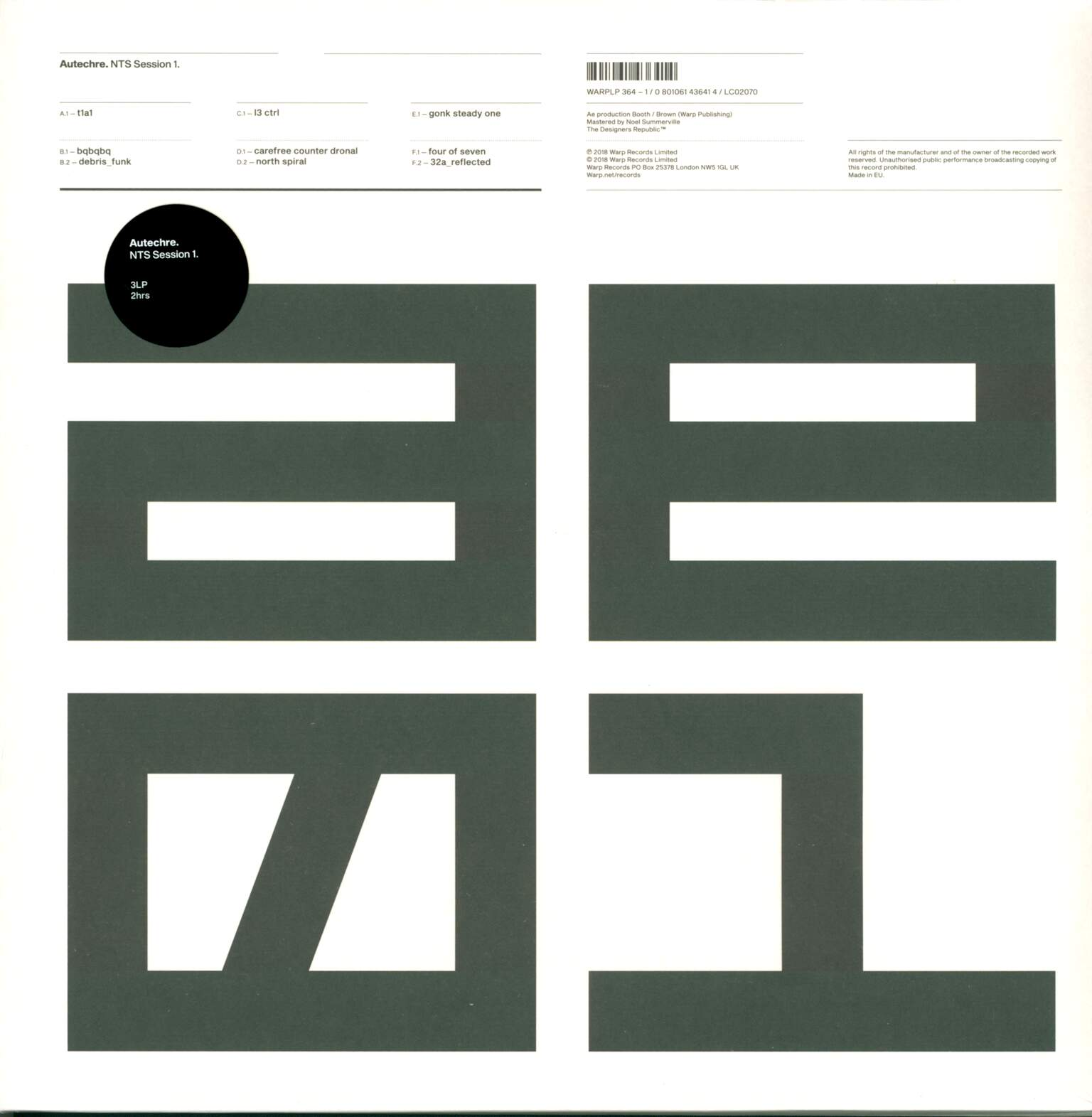 Autechre: NTS Session 1, 3×LP (Vinyl)