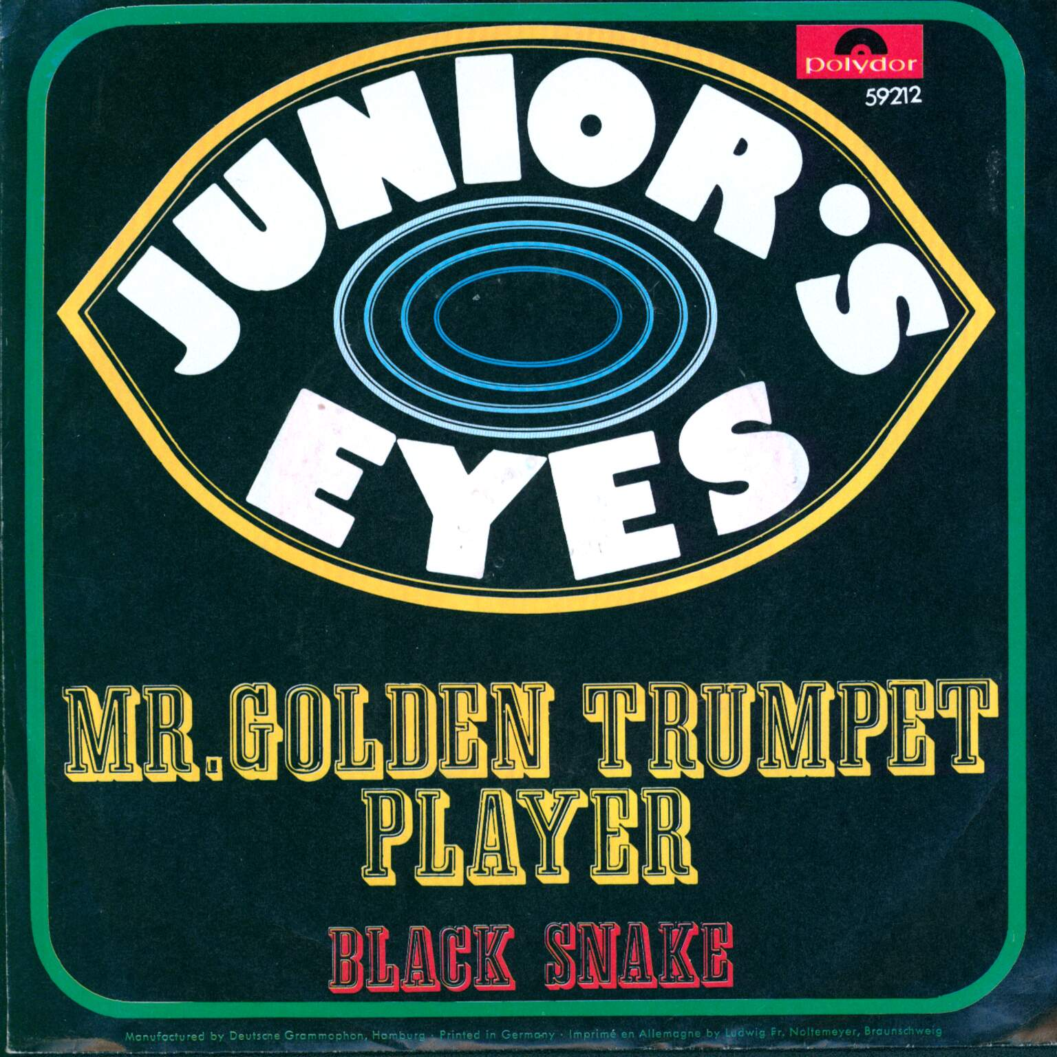 "Junior's Eyes: Mr. Golden Trumpet Player, 1×7"" Single (Vinyl)"
