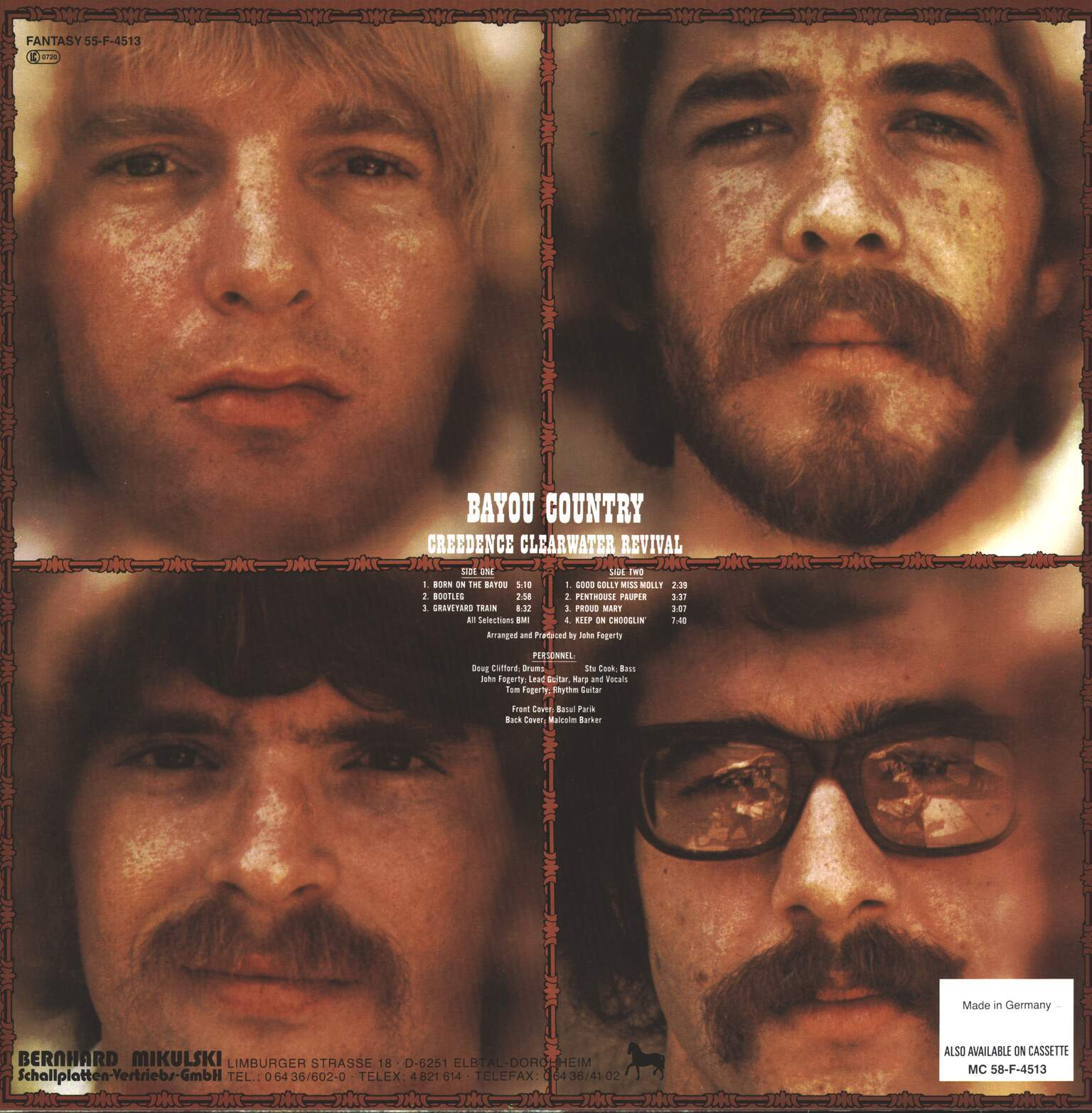 Creedence Clearwater Revival: Bayou Country, 1×LP (Vinyl)