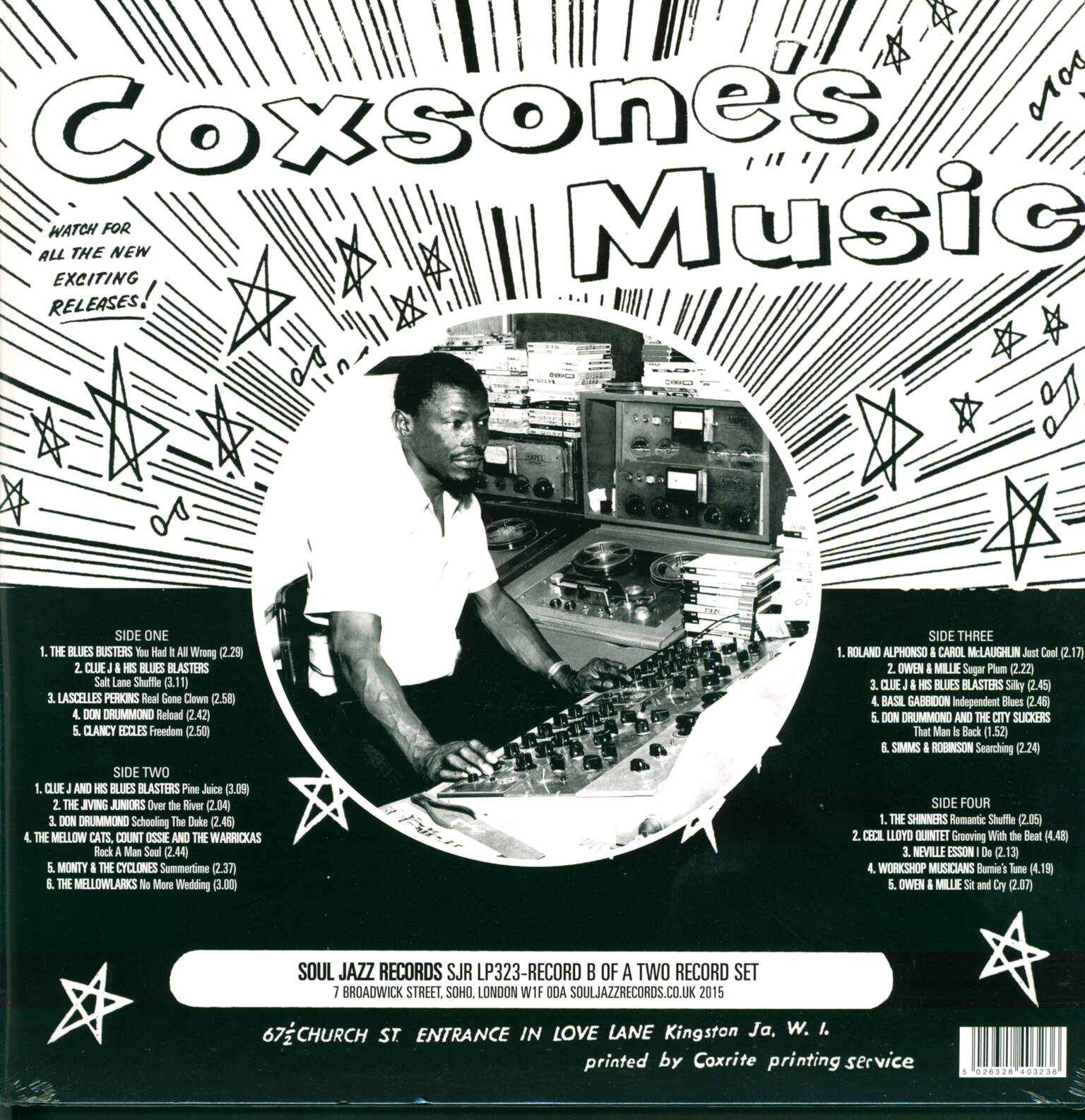 Various: Coxsone's Music (The First Recordings Of Sir Coxsone The Downbeat 1960-62), 2×LP (Vinyl)