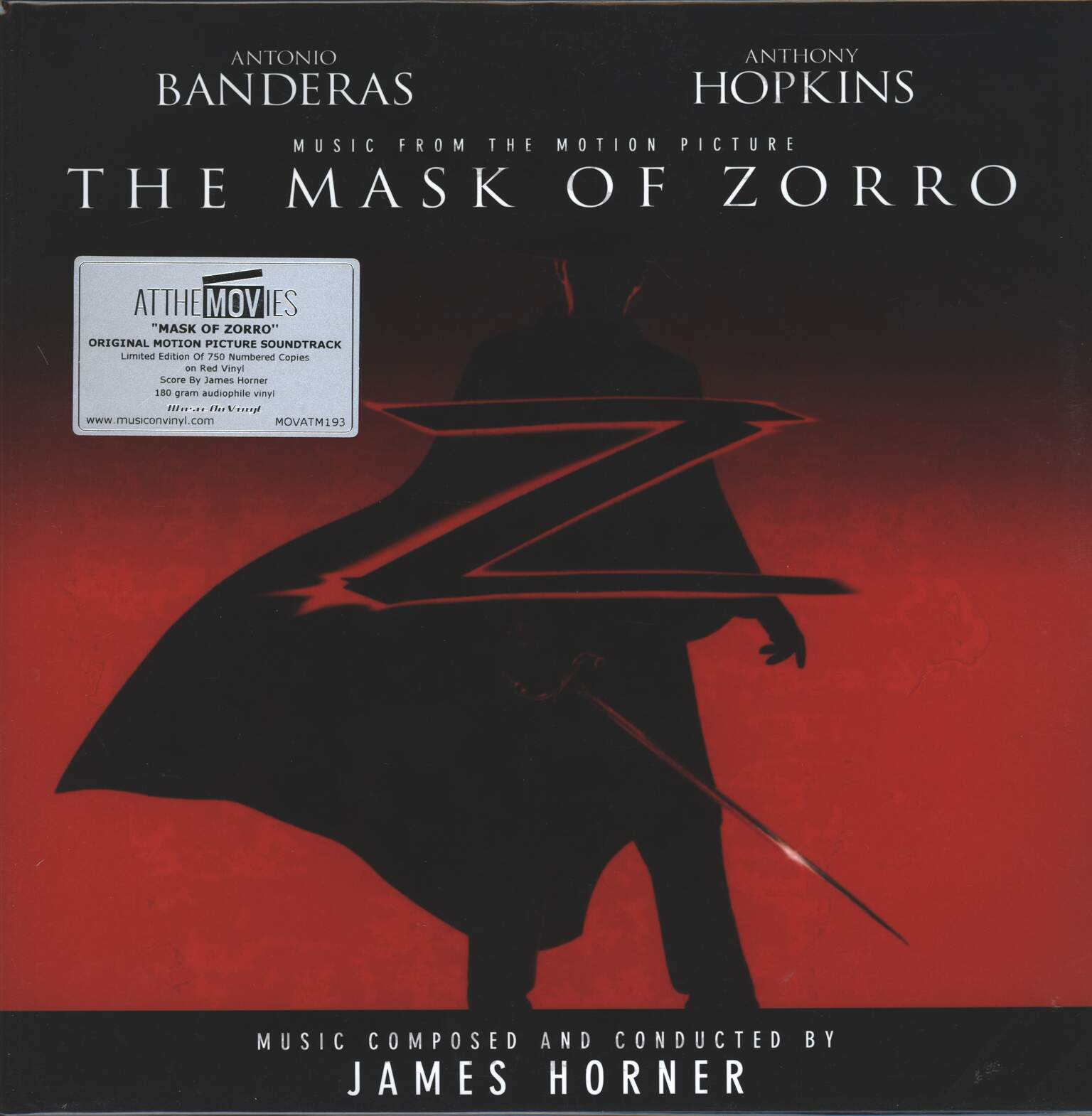 James Horner: The Mask Of Zorro (Music From The Motion Picture), 2×LP (Vinyl)