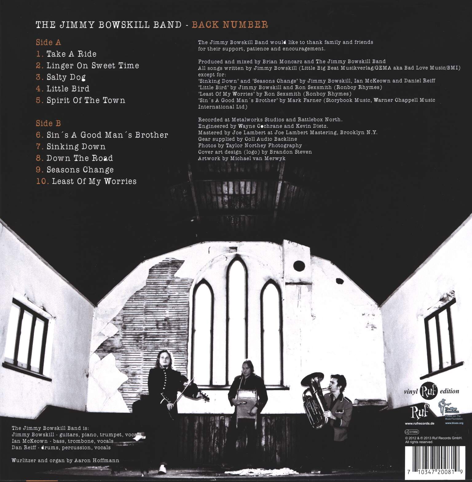 The Jimmy Bowskill Band: Back Number, 1×LP (Vinyl)
