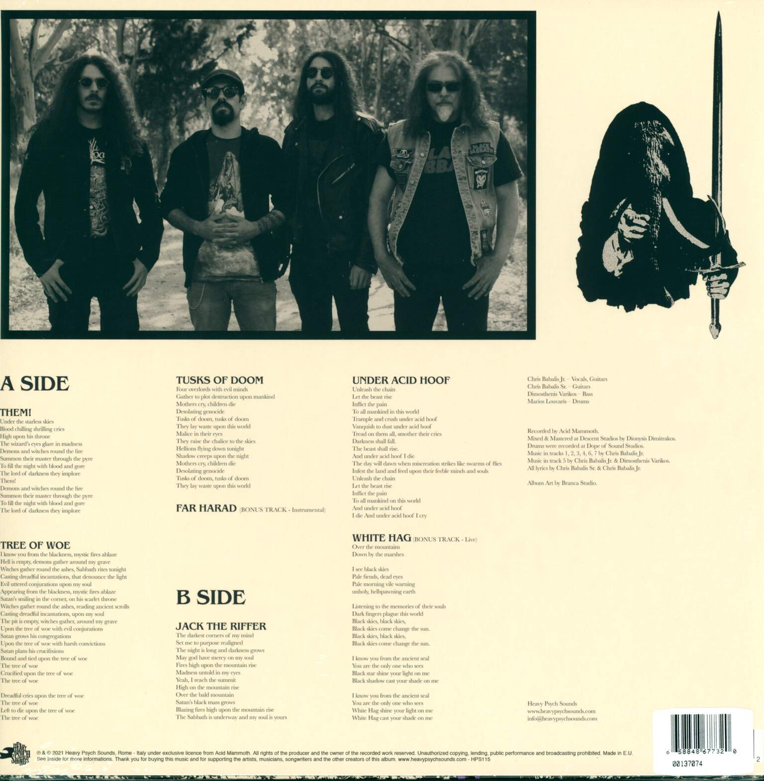 Acid Mammoth: Under Acid Hoof, 1×LP (Vinyl)