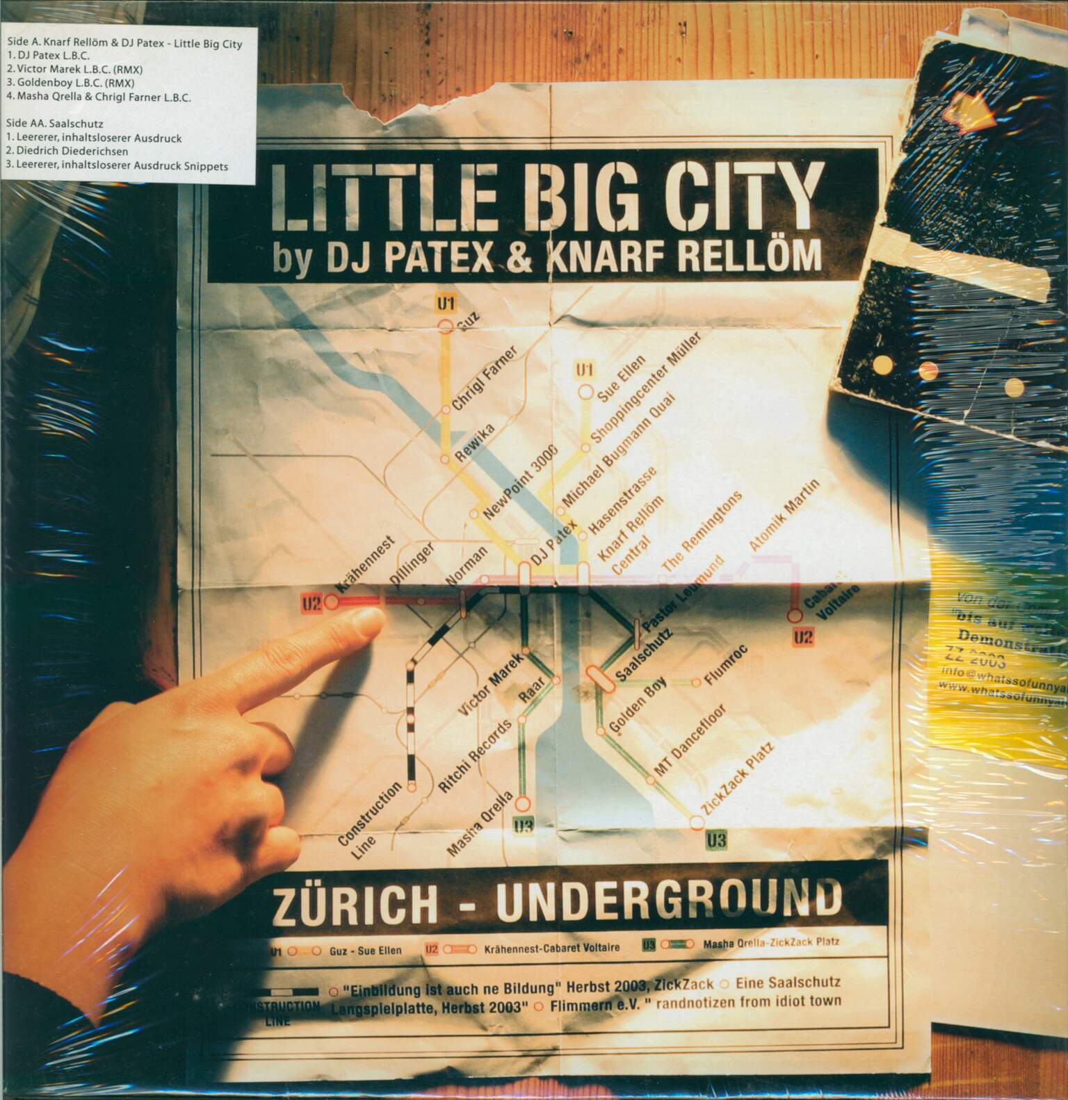 Knarf Rellöm: Little Big City / Technopunk, 1×LP (Vinyl)