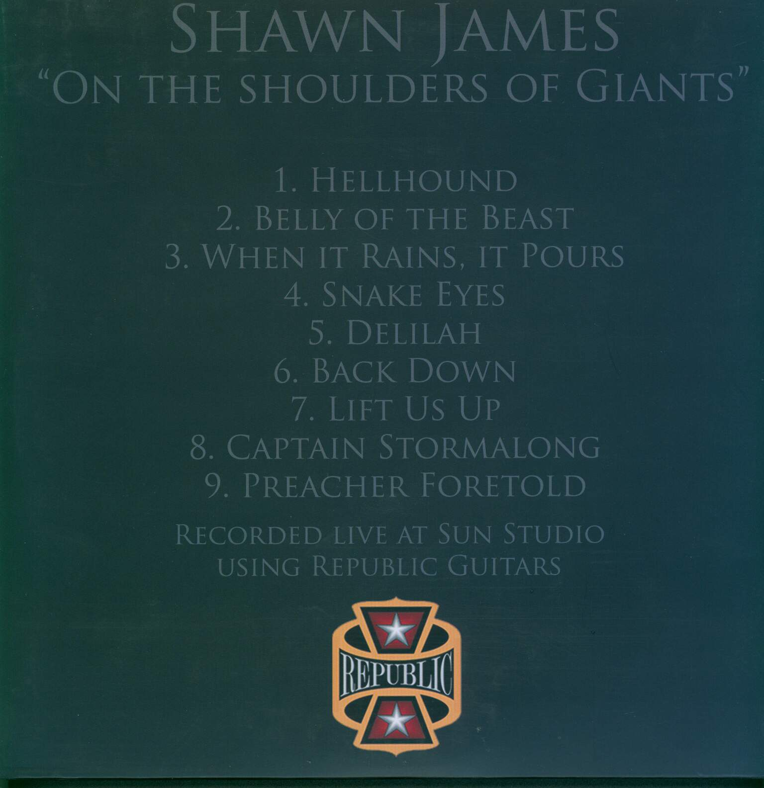 Shawn James: On The Shoulders Of Giants, 1×LP (Vinyl)