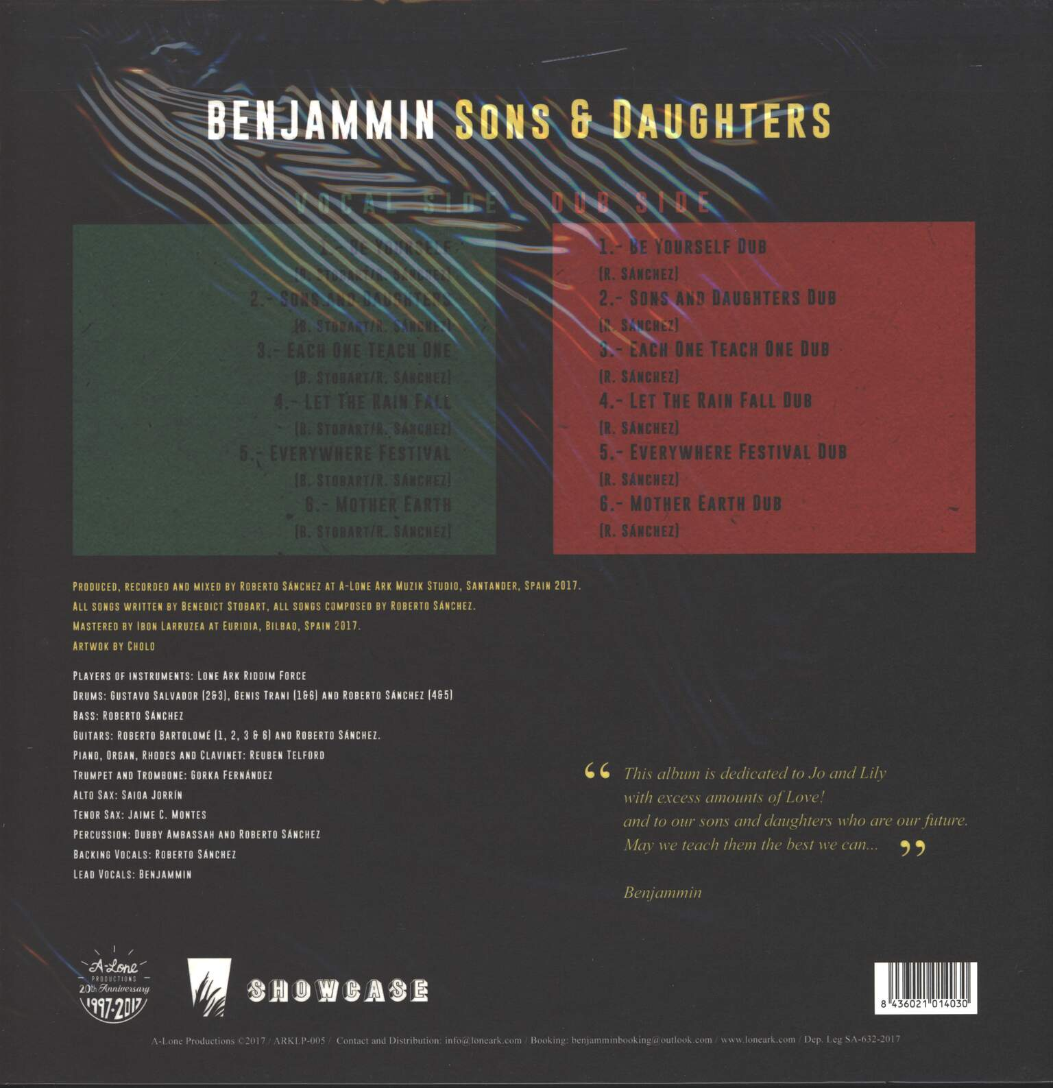 Ben-Jammin': Sons & Daughters, 1×LP (Vinyl)