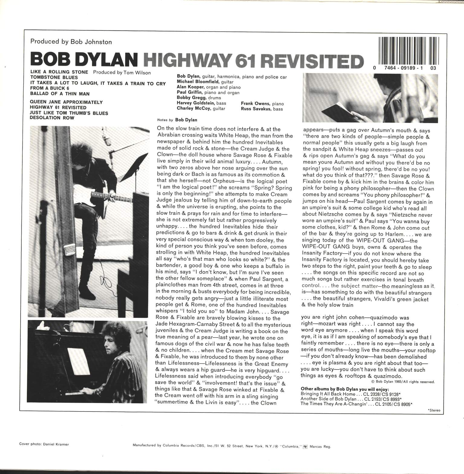 Bob Dylan: Highway 61 Revisited, 1×LP (Vinyl)