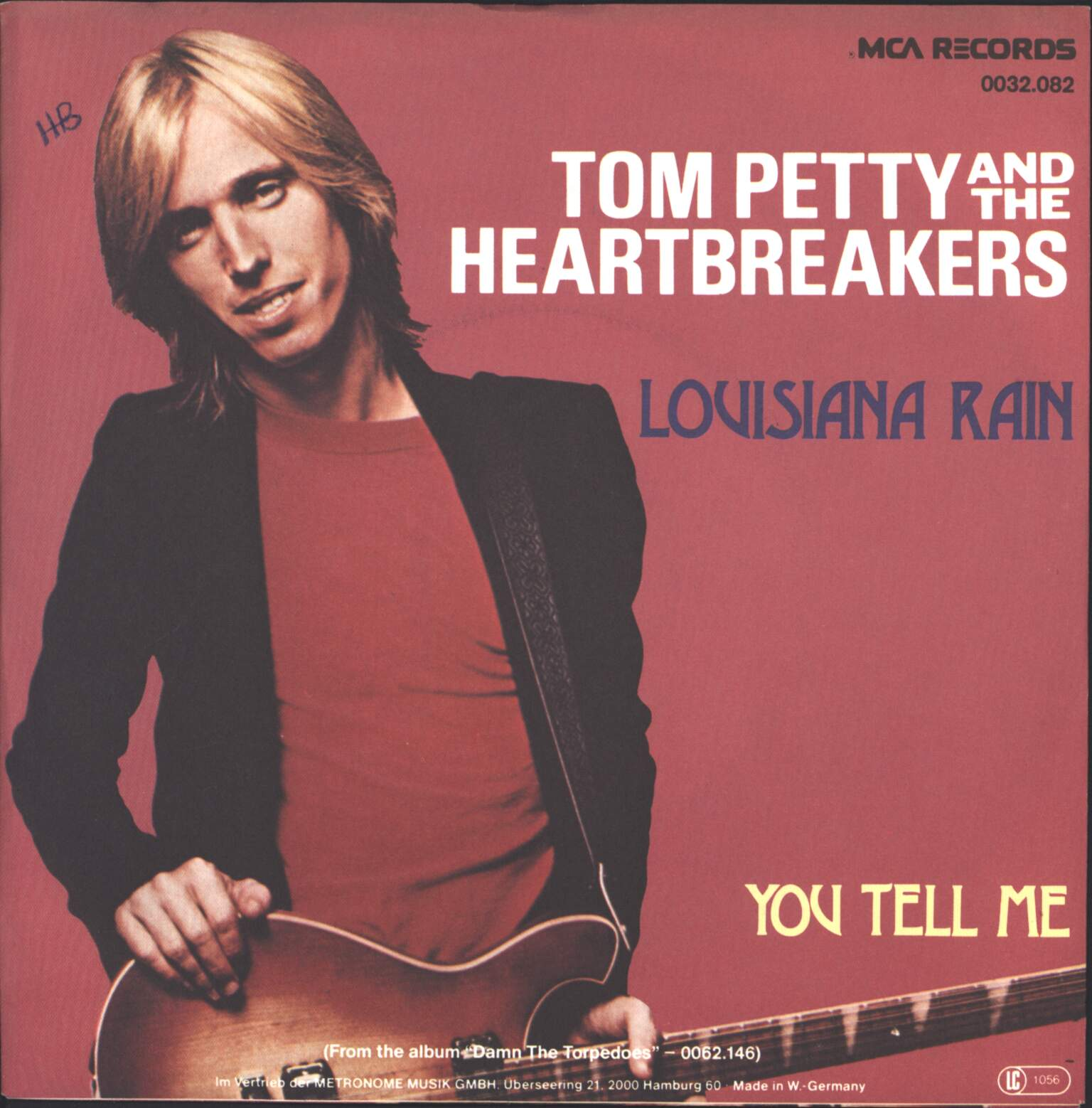 "Tom Petty And The Heartbreakers: Louisiana Rain / You Tell Me, 1×7"" Single (Vinyl)"