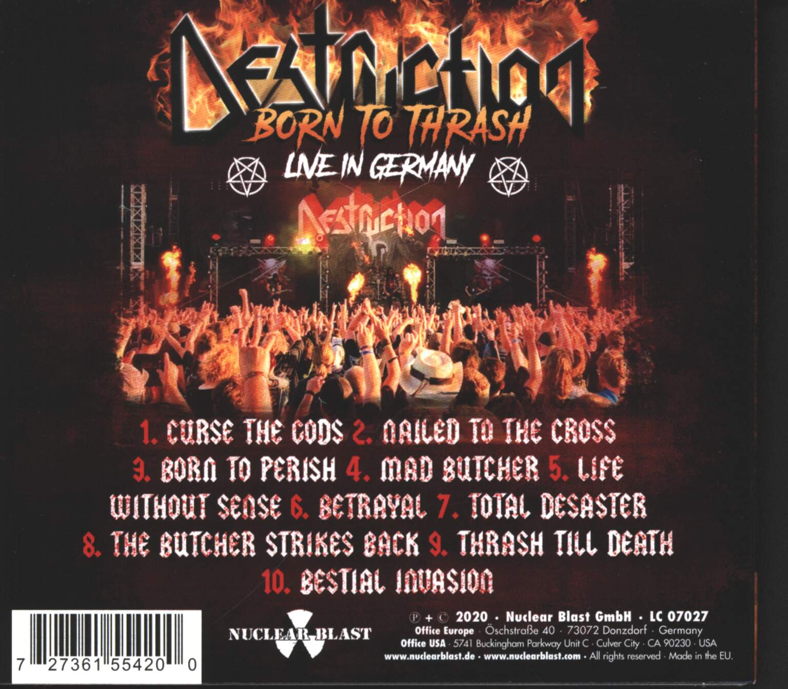 Destruction: Born To Thrash (Live In Germany), 1×CD