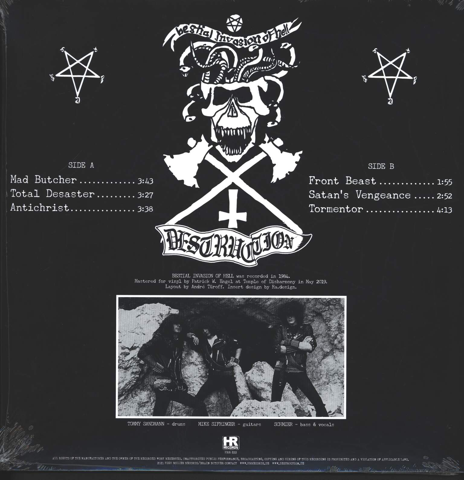 "Destruction: Bestial Invasion Of Hell, 1×12"" Maxi Single (Vinyl)"