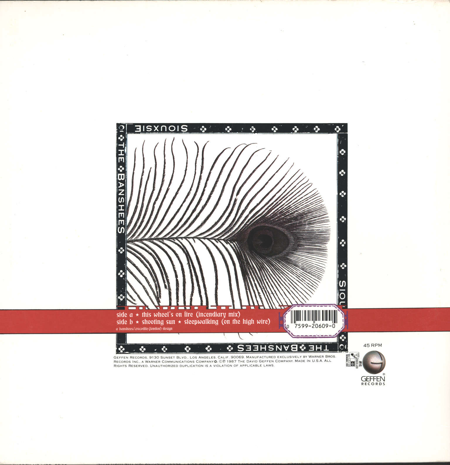 "Siouxsie & the Banshees: This Wheel's On Fire, 12"" Maxi Single (Vinyl)"