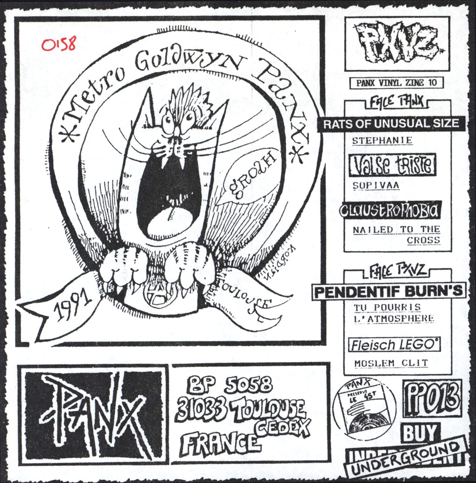 "Various: Panx Vinyl Zine 10, 7"" Single (Vinyl)"