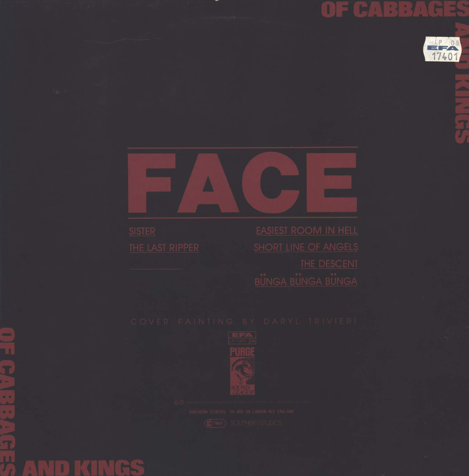 Of Cabbages and Kings: Face, LP (Vinyl)