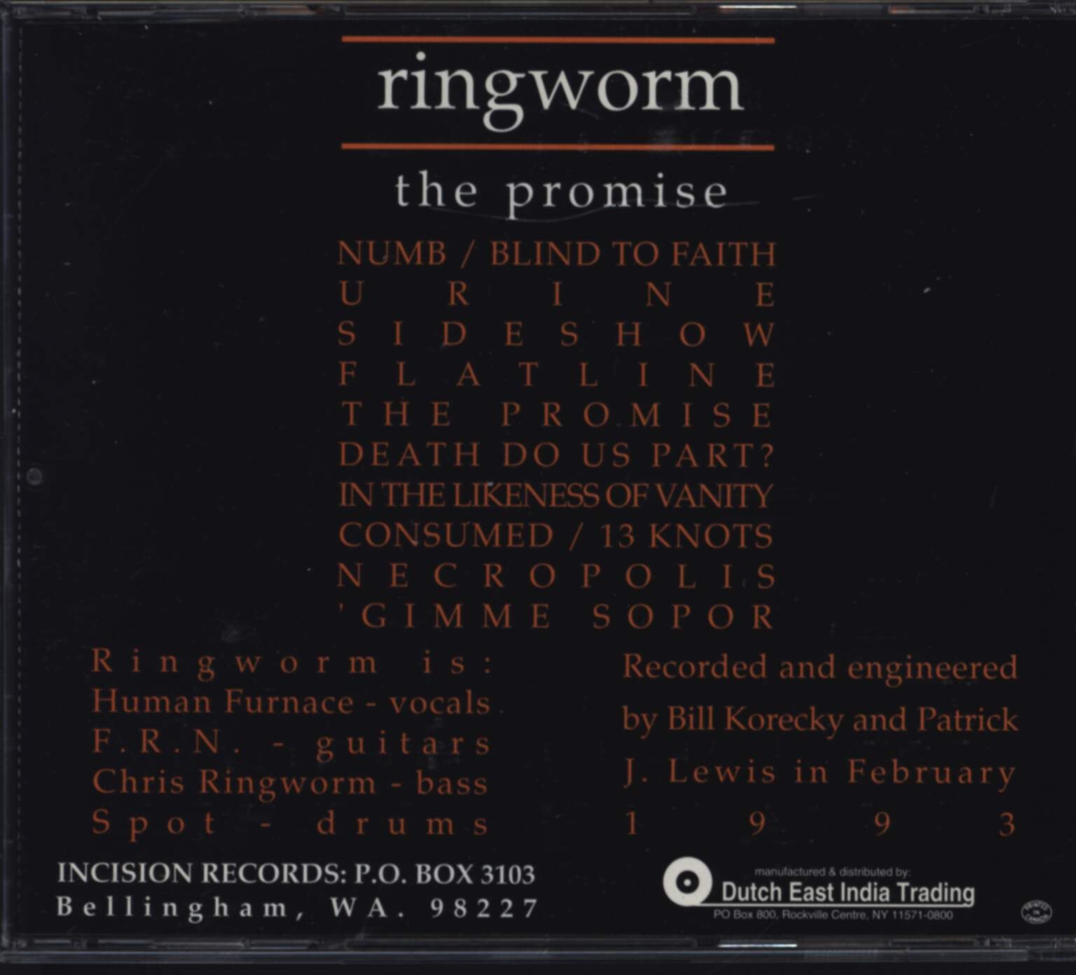 Ringworm: The Promise, CD