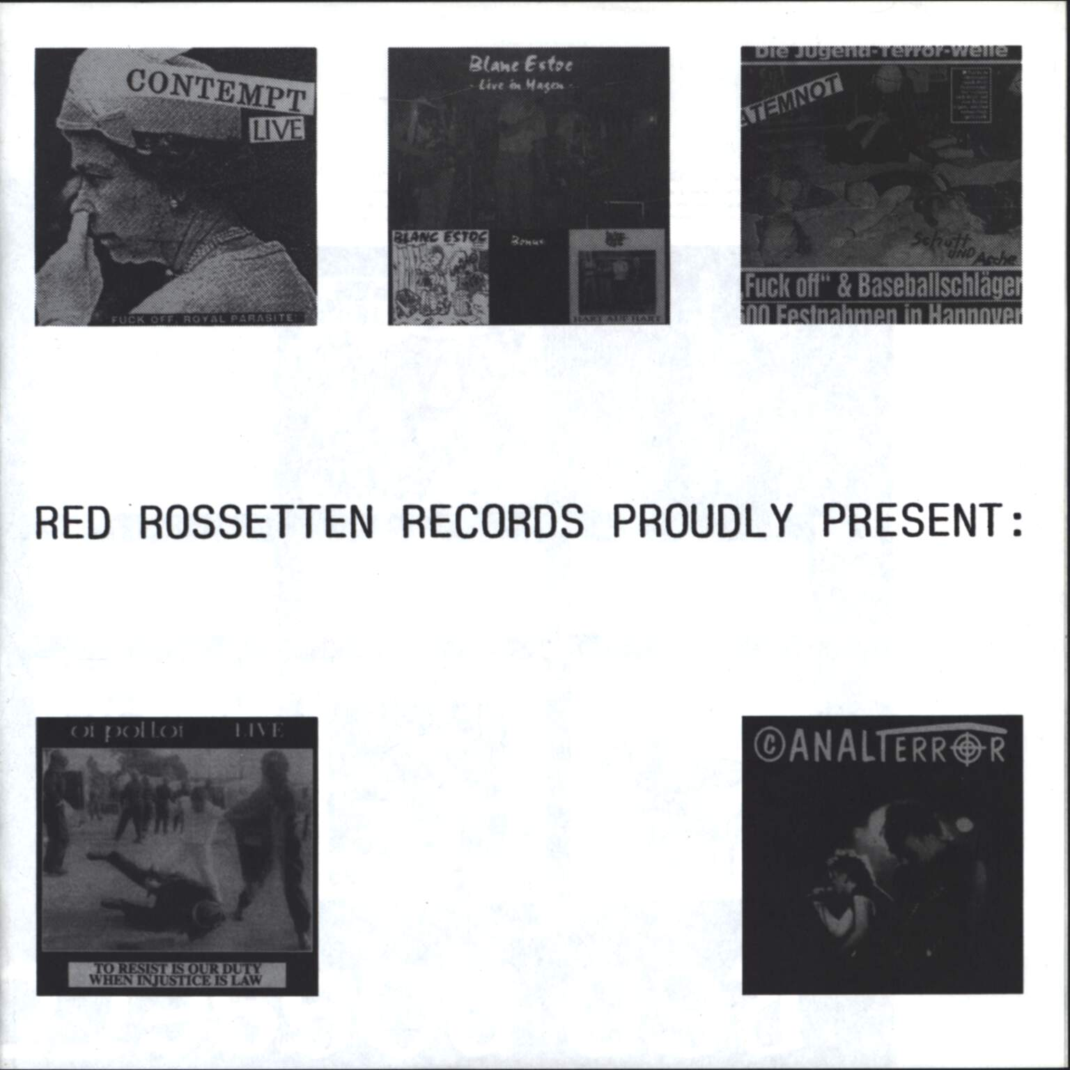 "Various: Red Rossetten Records Proudly Present:, 7"" Single (Vinyl)"